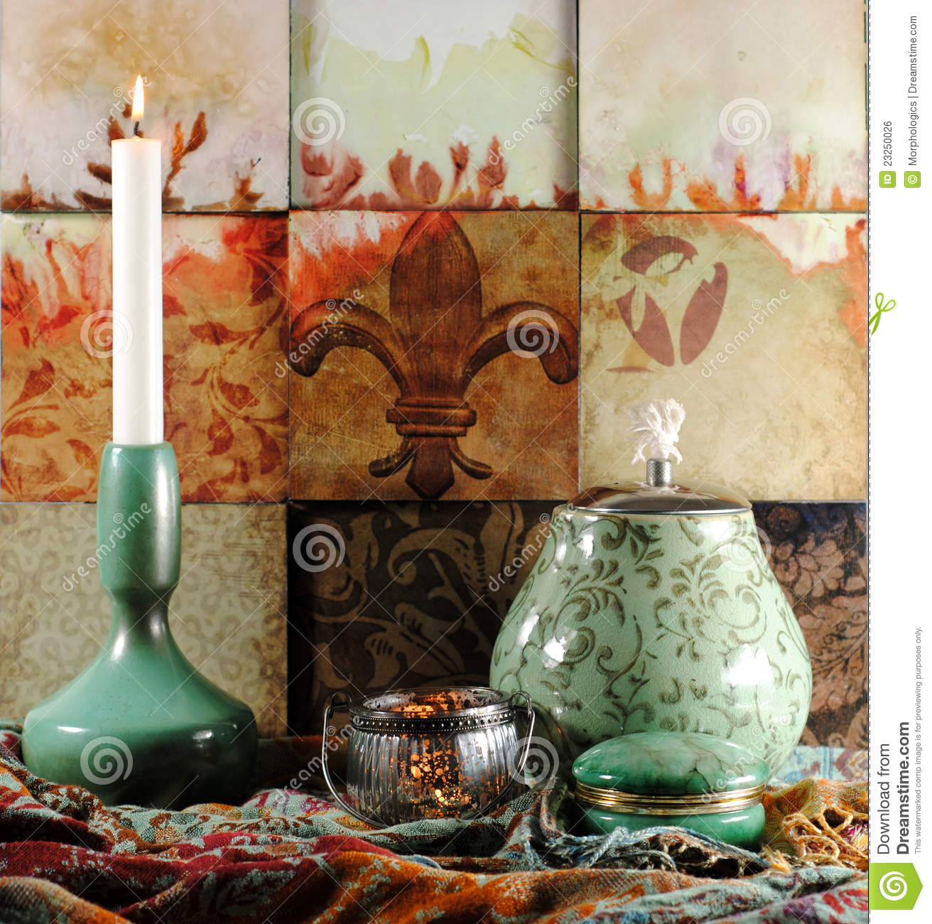 oriental decoration objects royalty free stock image image 23250026. Black Bedroom Furniture Sets. Home Design Ideas