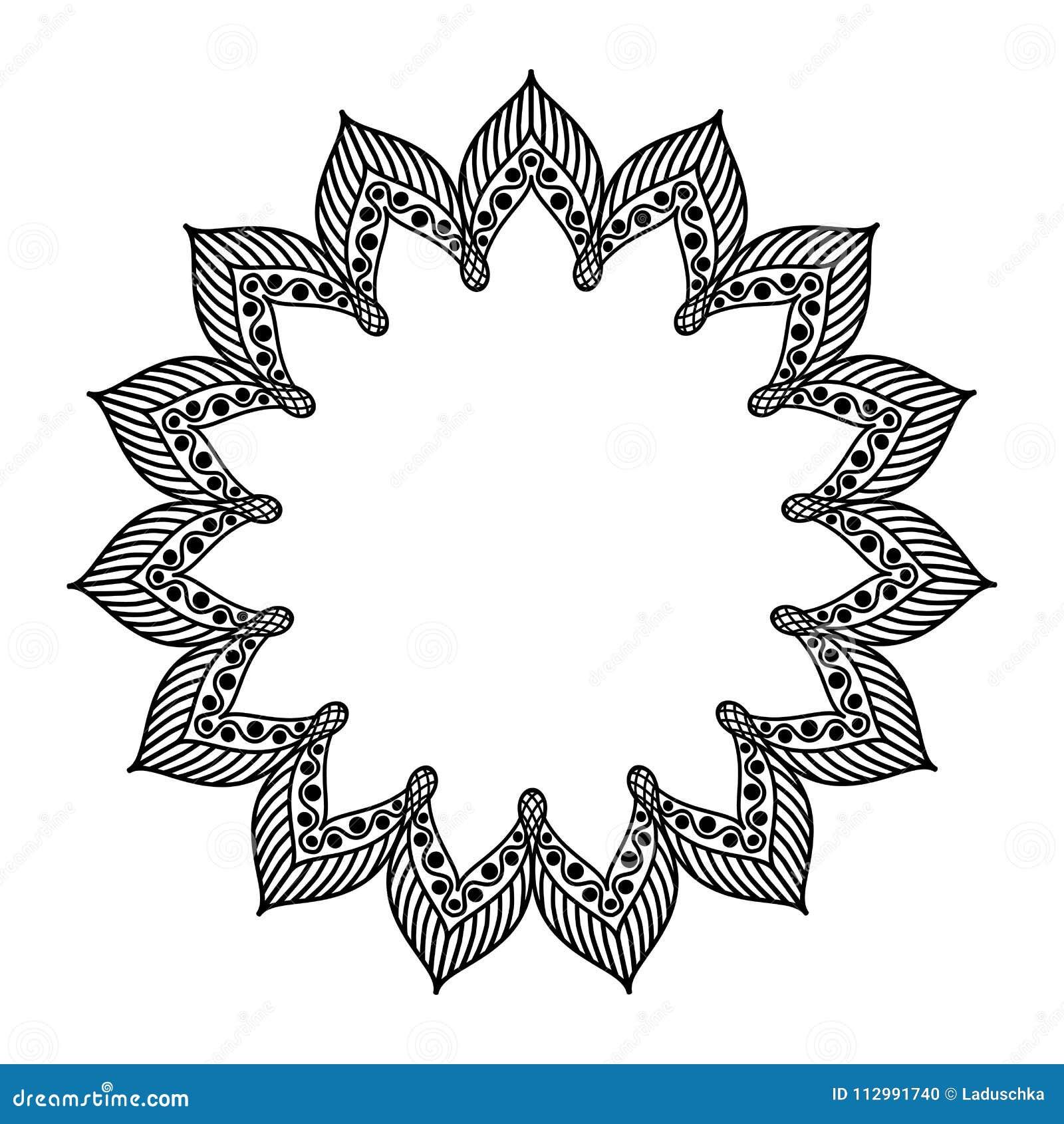 Oriental decorative mandala frame