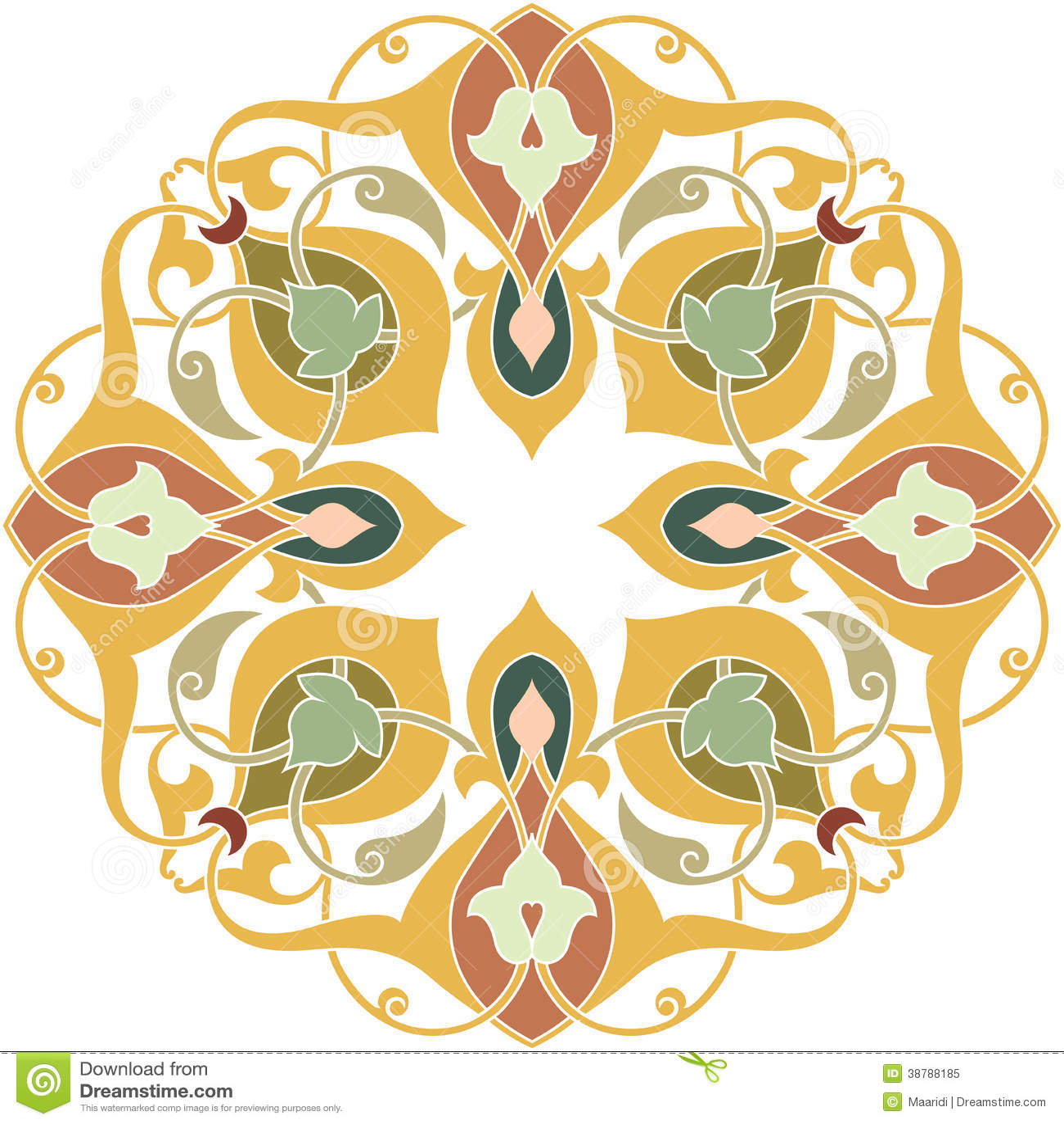 Oriental Design Element Royalty Free Stock Photo