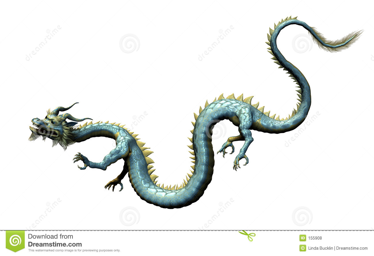 Oriental Dragon with Clipping Path