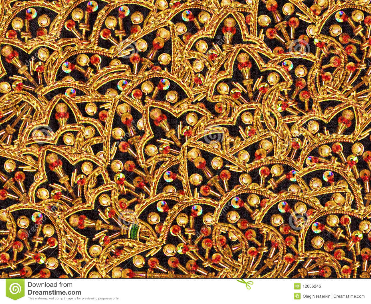 Oriental Embroidery Royalty Free Stock Image Image 12006246