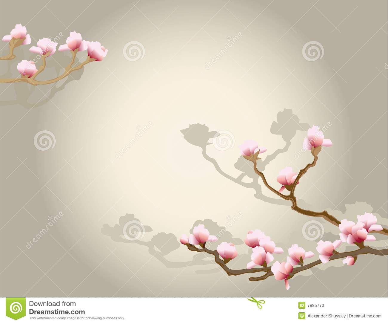 Lotus Flower Design Wall Paper : Oriental floral background stock vector image of spring