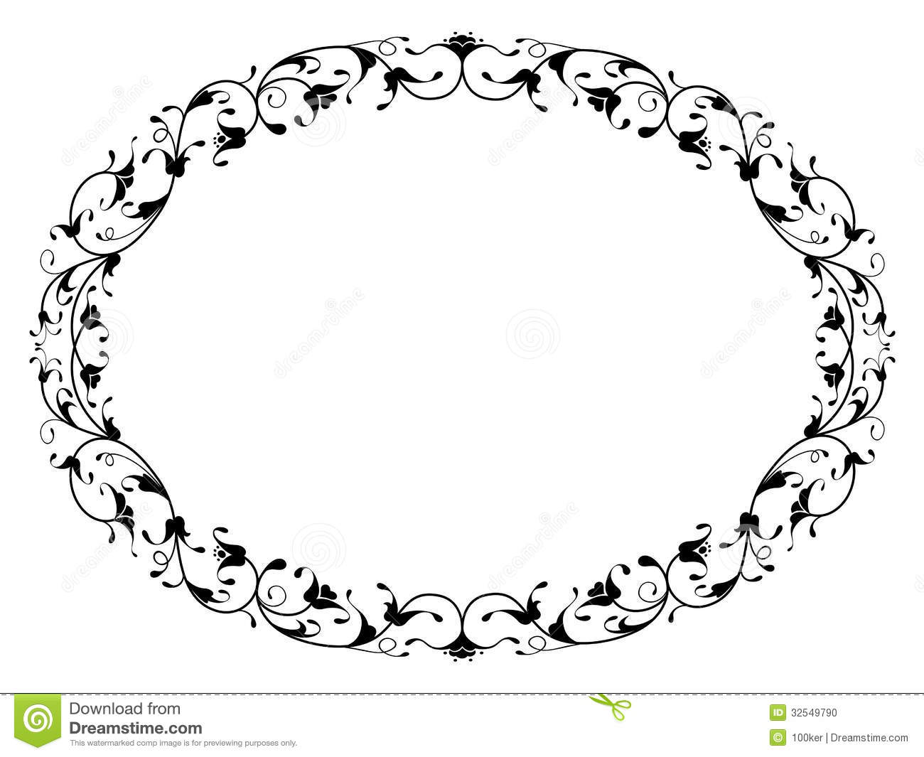 Vertical Oval Frame Clipart oval frame Stock Photo
