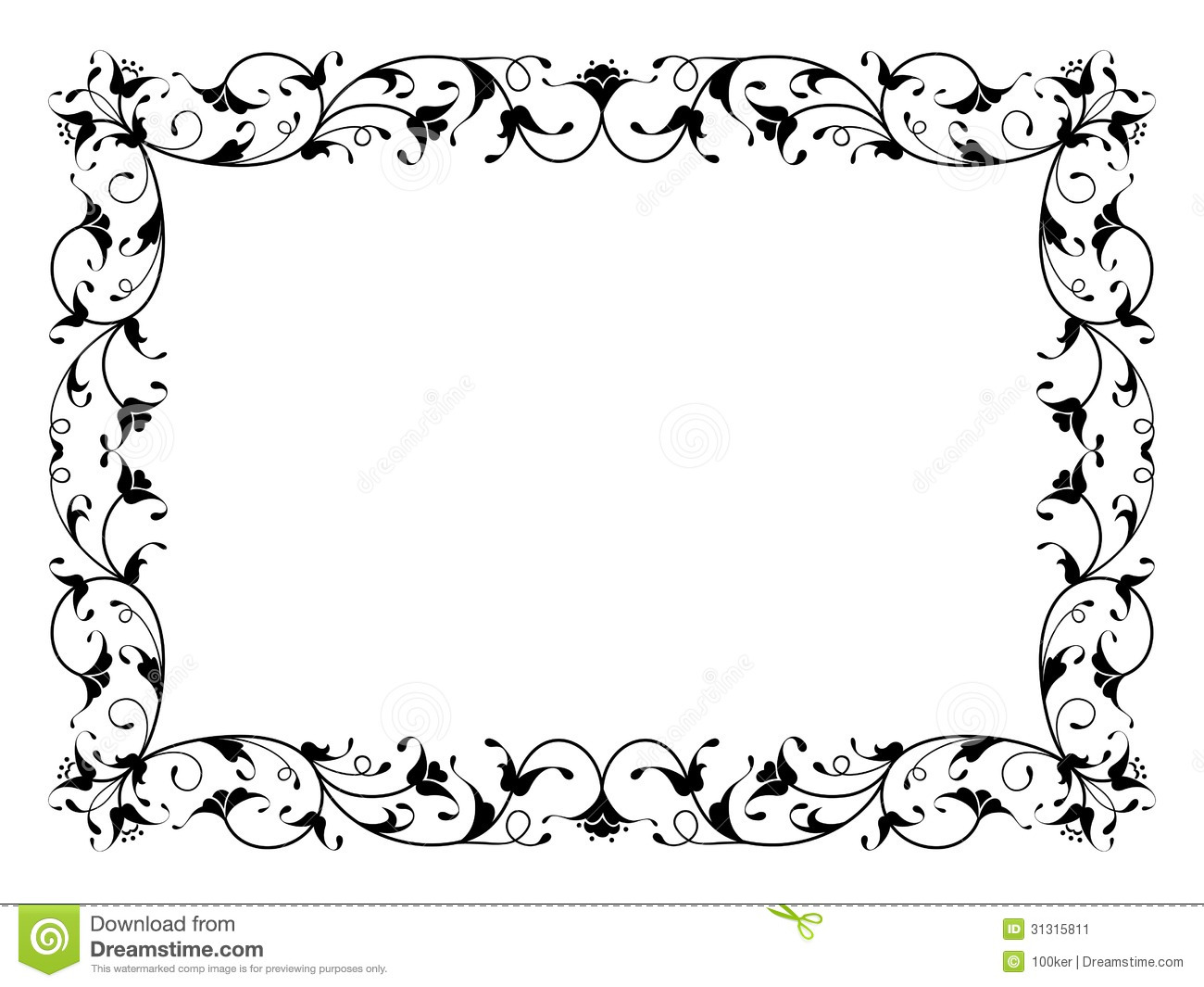 oriental floral ornamental decorative black frame stock vector illustration of flourish. Black Bedroom Furniture Sets. Home Design Ideas