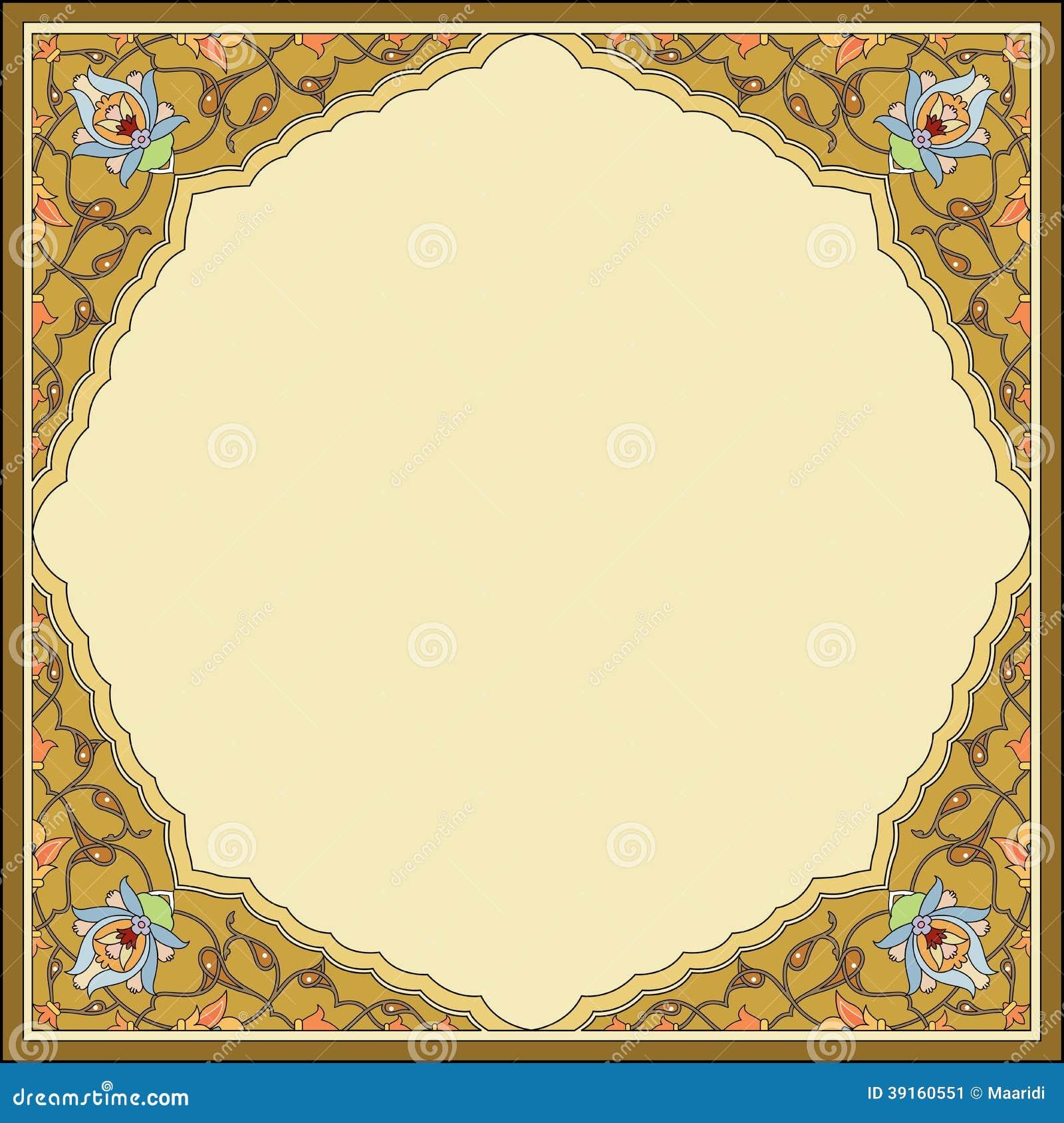 Oriental Garnished Frame Stock Vector Image 39160551