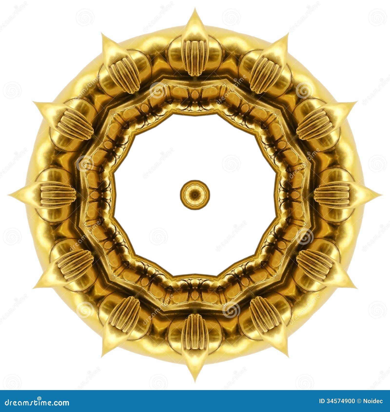 Oriental Gold Ornament Texture Stock Illustration - Illustration ...