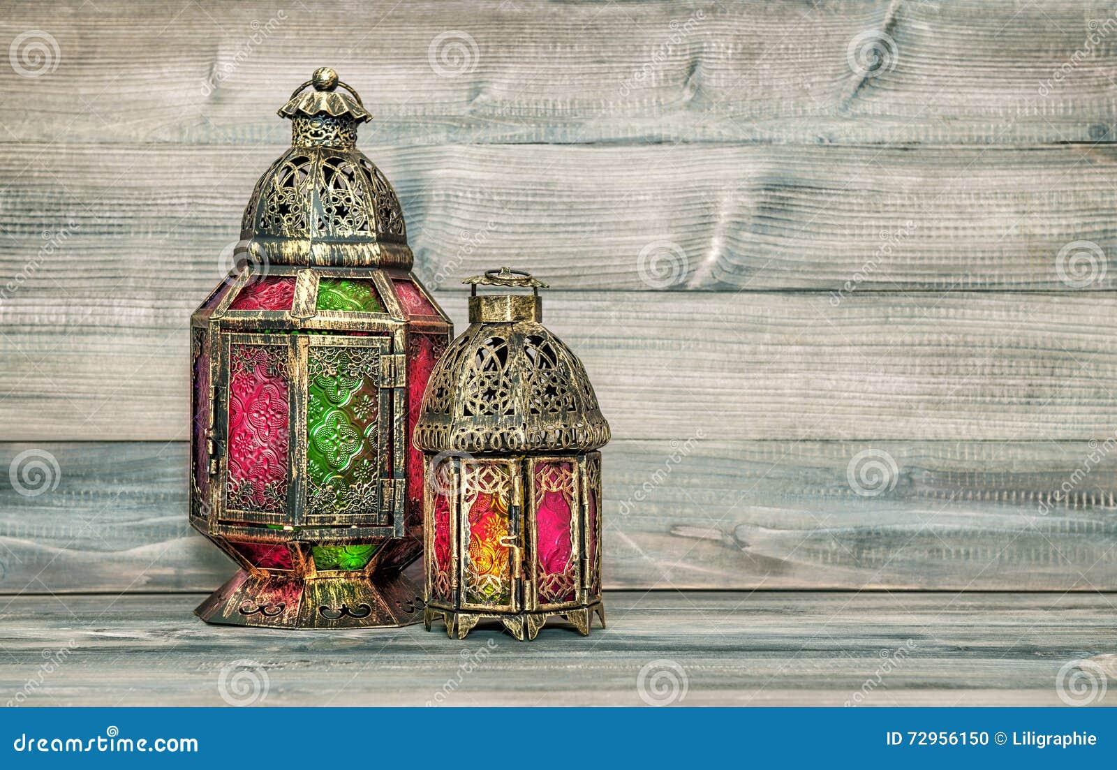 Oriental light lantern arabic decoration vintage stock for Decoration orientale