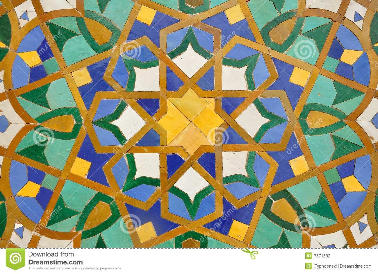 Oriental mosaic decoration stock photography image 7571582 for Decoration orientale