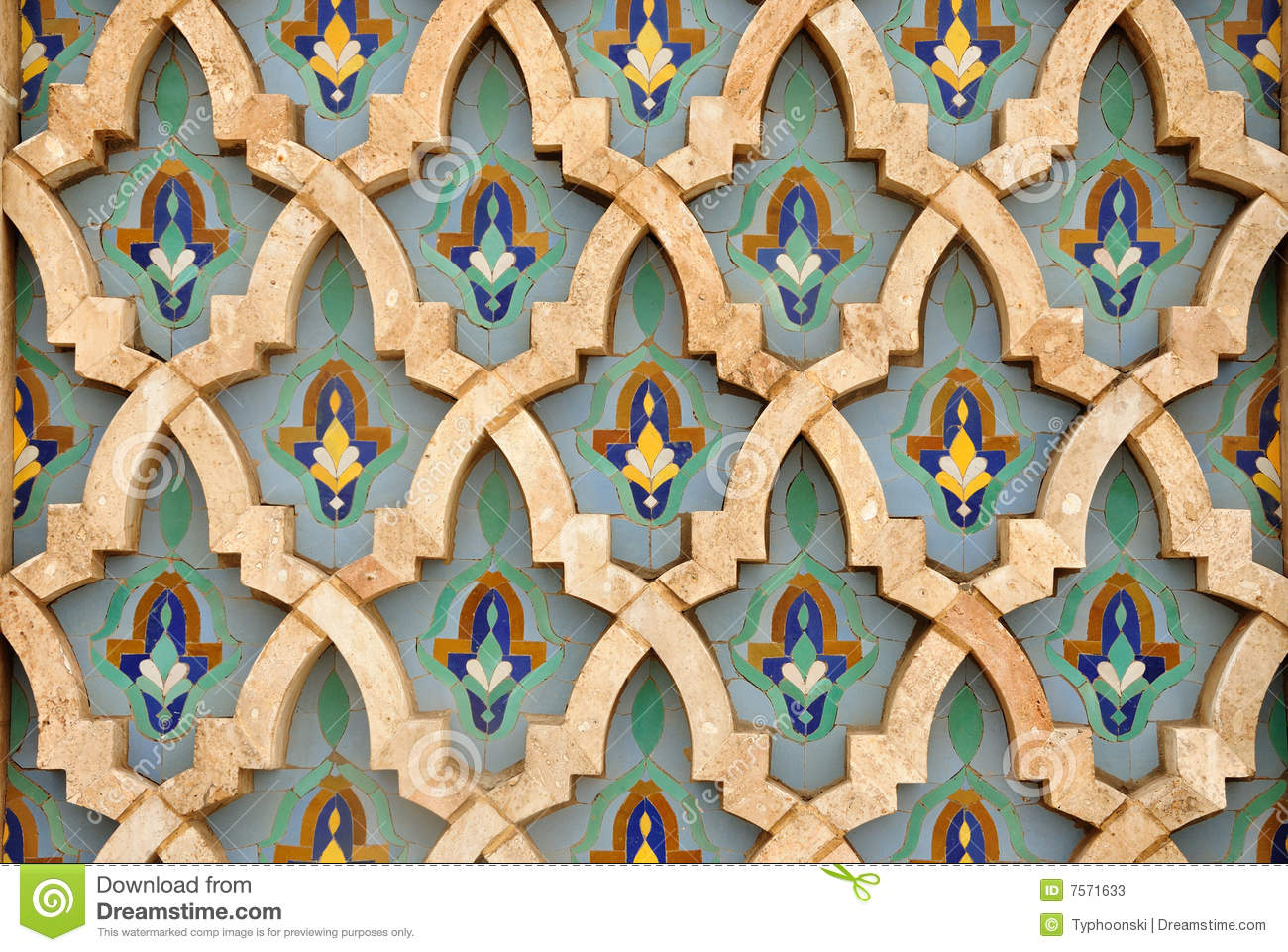 Oriental mosaic decoration stock image image of tiling for Decoration orientale
