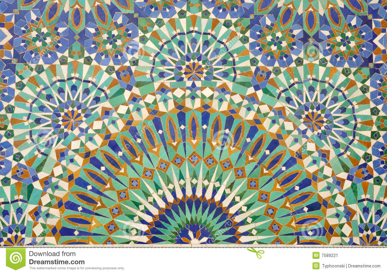 Oriental mosaic decoration stock image image 7589221 for Decoration orientale