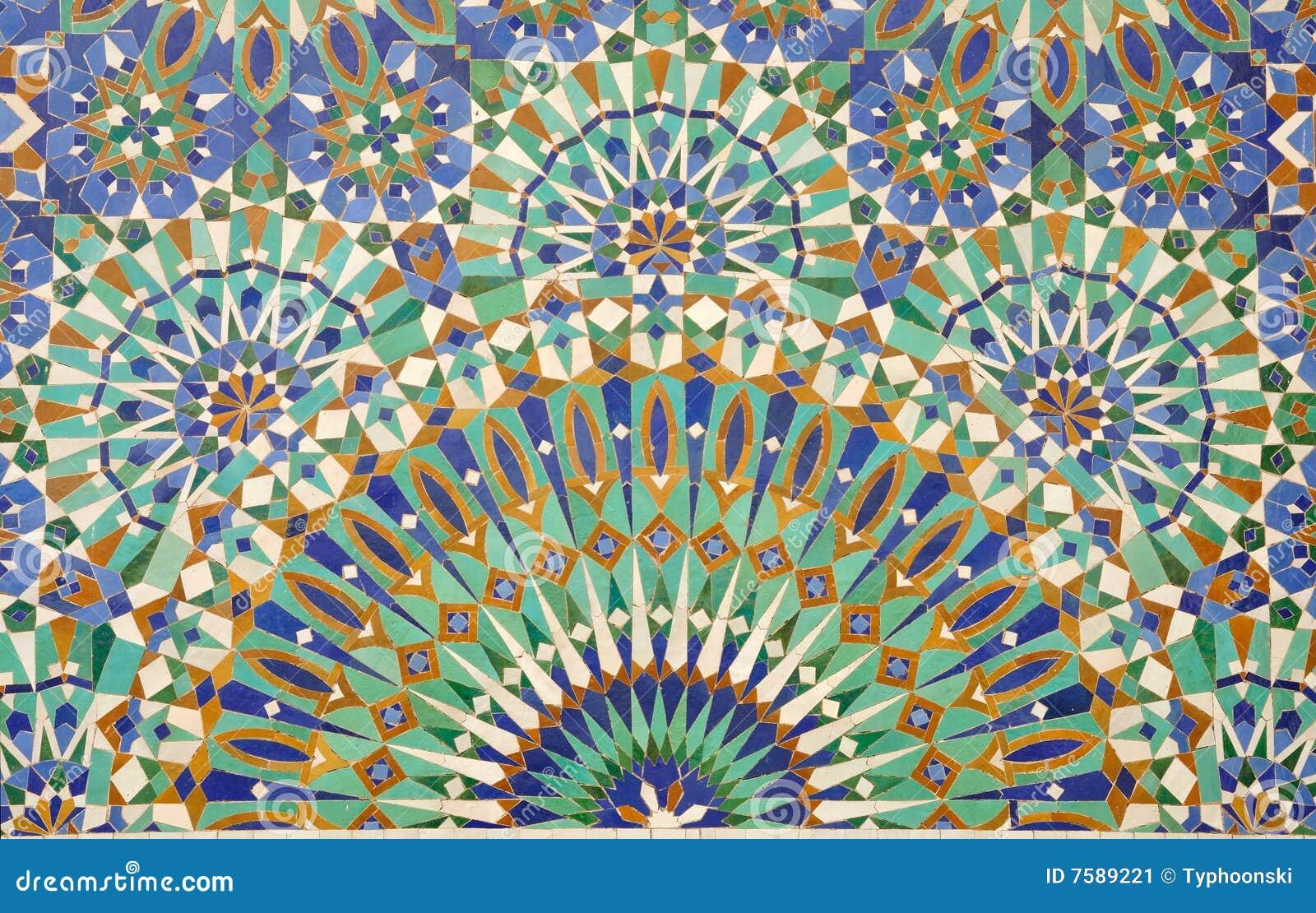 oriental mosaic decoration stock image image 7589221. Black Bedroom Furniture Sets. Home Design Ideas