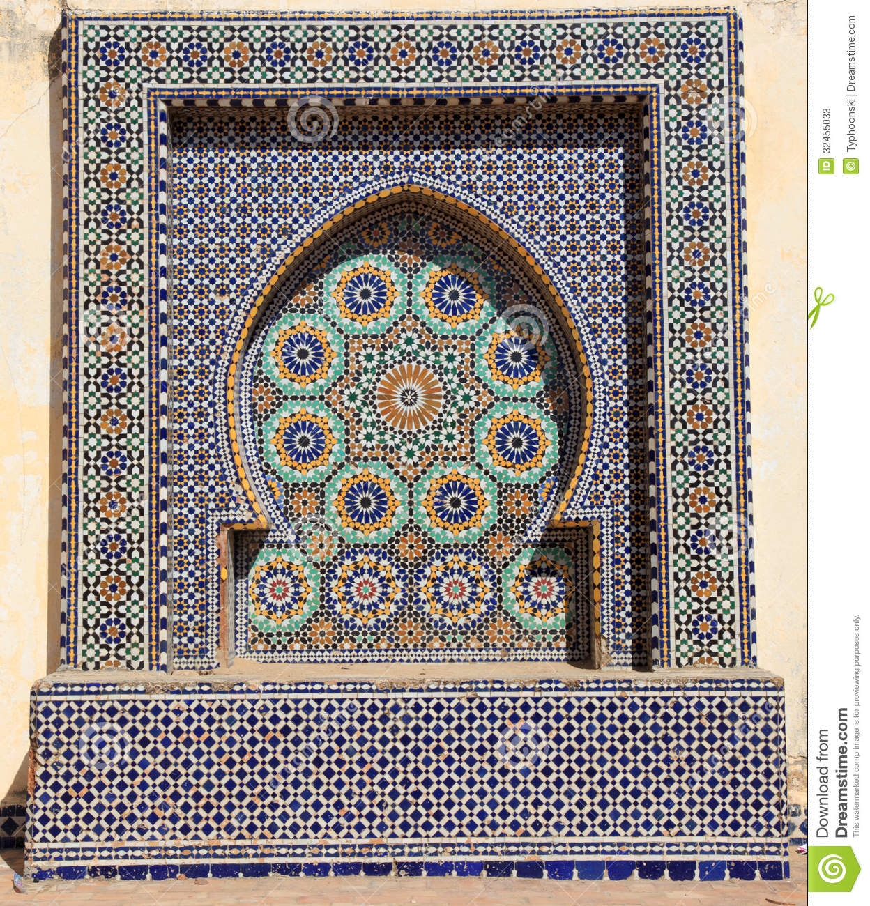 Oriental Mosaic In Morocco Stock Image. Image Of Geometry