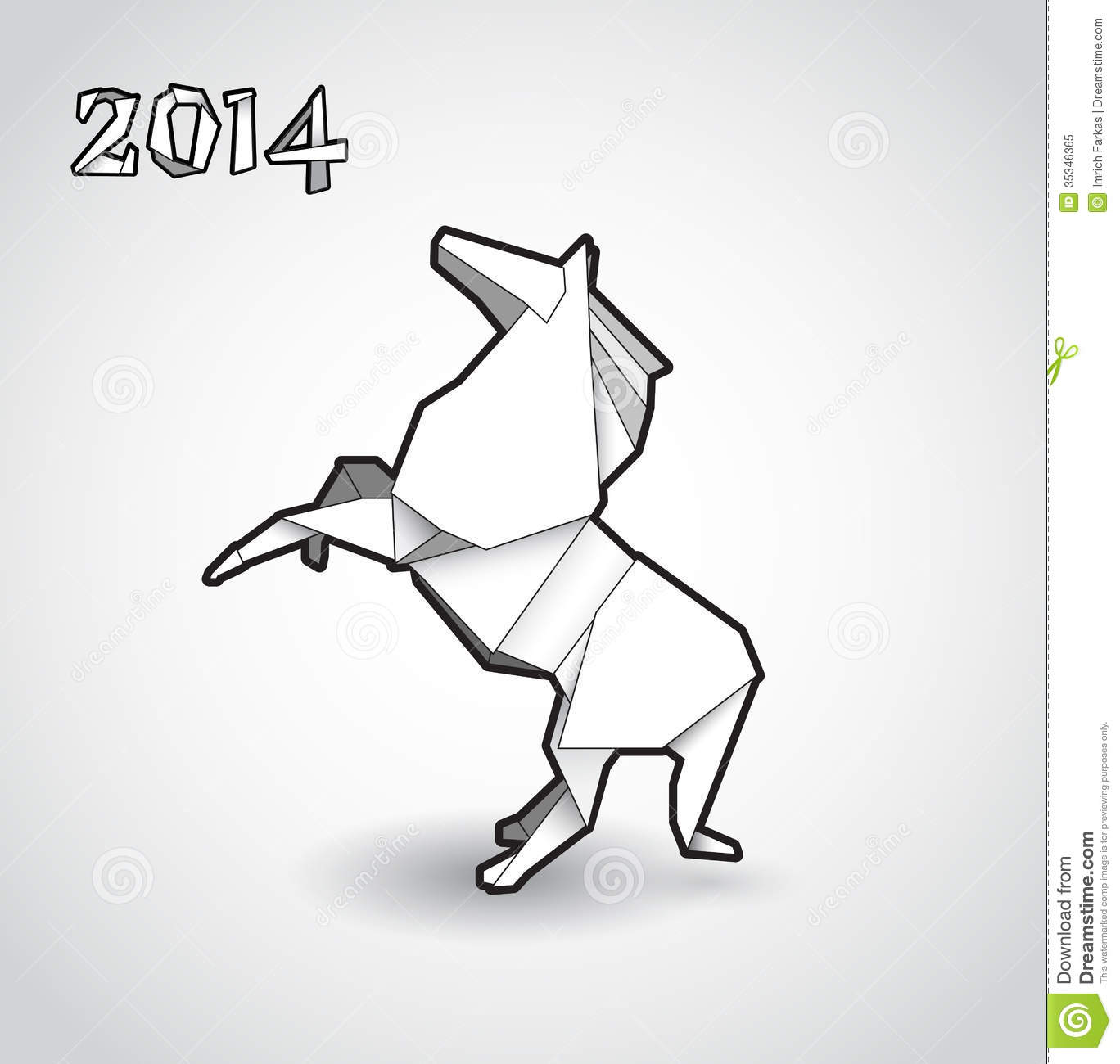 Oriental Origami New Year Horse