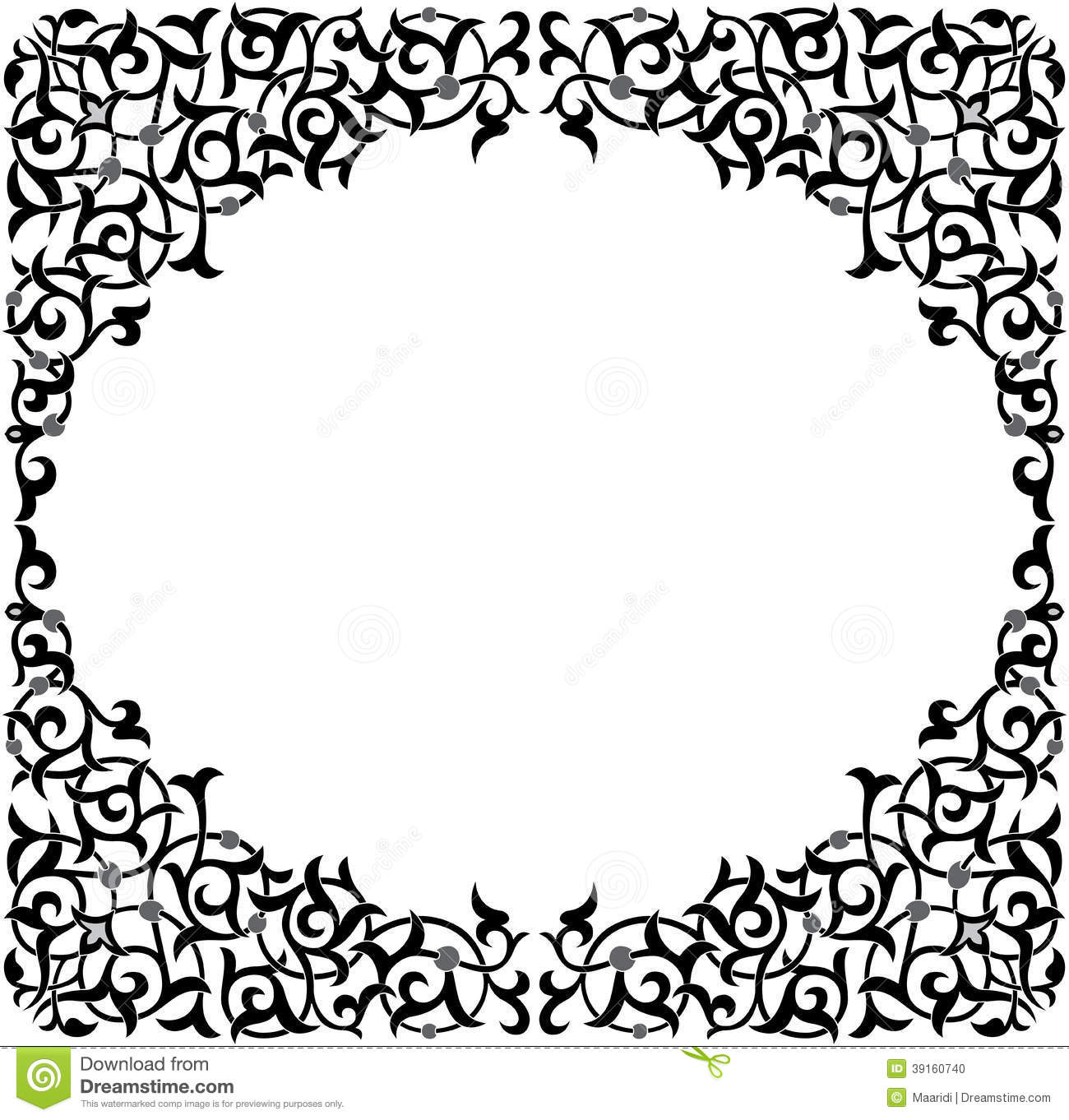 Oriental Ornament Pattern Stock Vector Image Of Craft 39160740