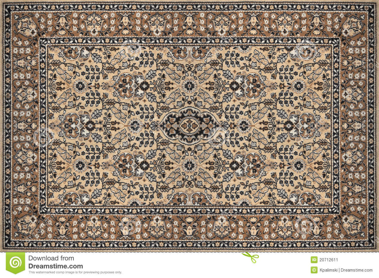 Oriental Ornate Traditional Carpet Texture Stock Image