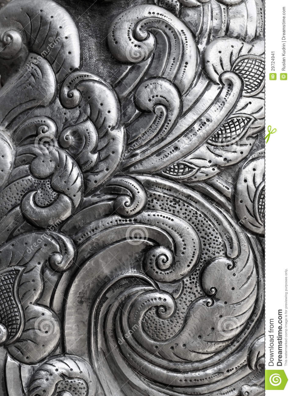 Engraving On Silver Background Stock Image Image 29724941
