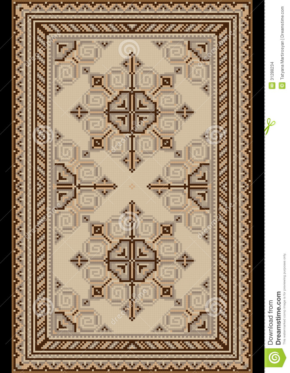 Asian carpet design-3969
