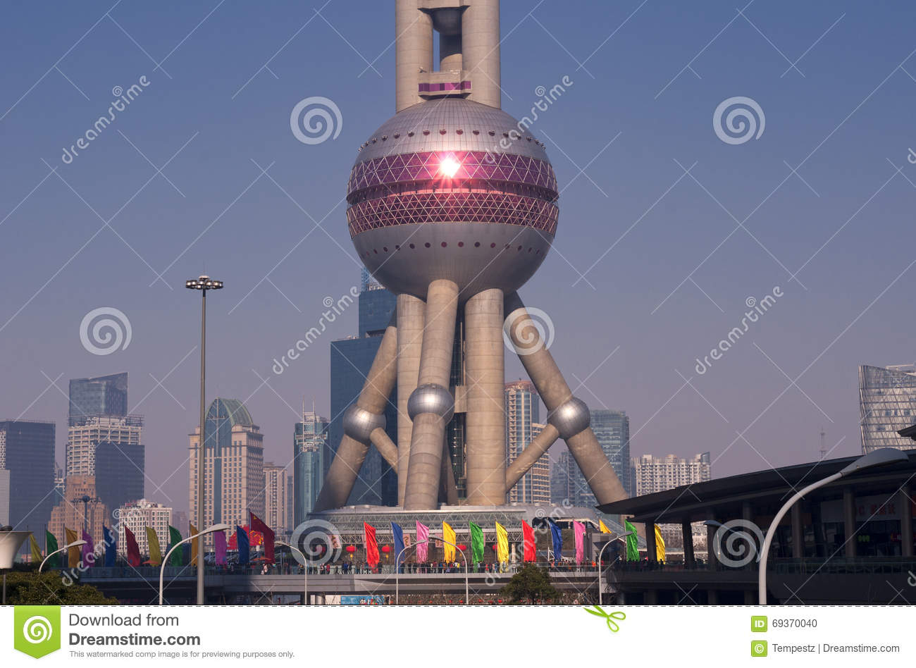 Oriental Pearl Tower Shanghai Editorial Image Image Of Landmark