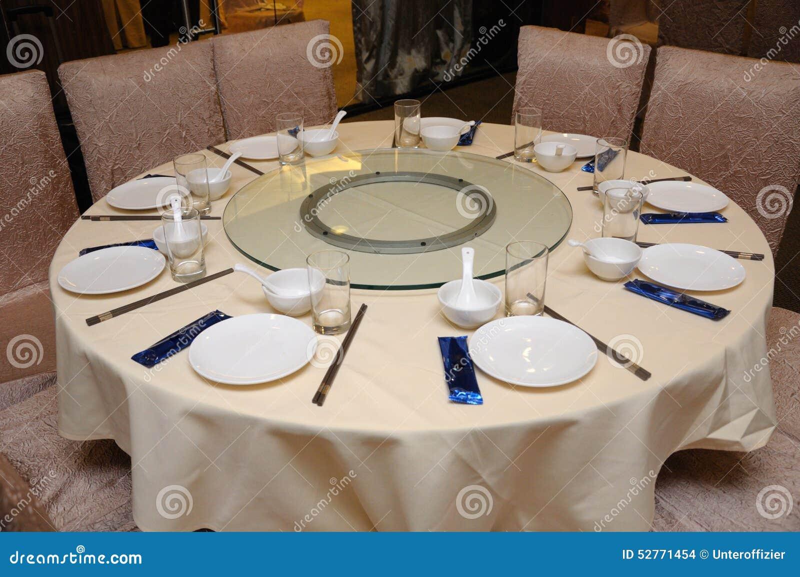 Oriental Restaurant Table Setting Stock Photo Image