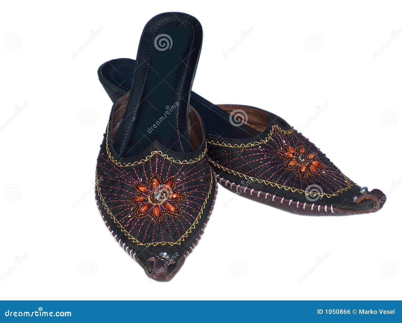ec33edf2eb3cb Oriental sandals stock photo. Image of pair, black, isolated - 1050866