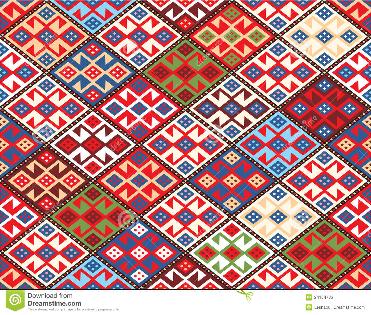 Oriental Seamless Pattern Nomadic Rug Royalty Free Stock