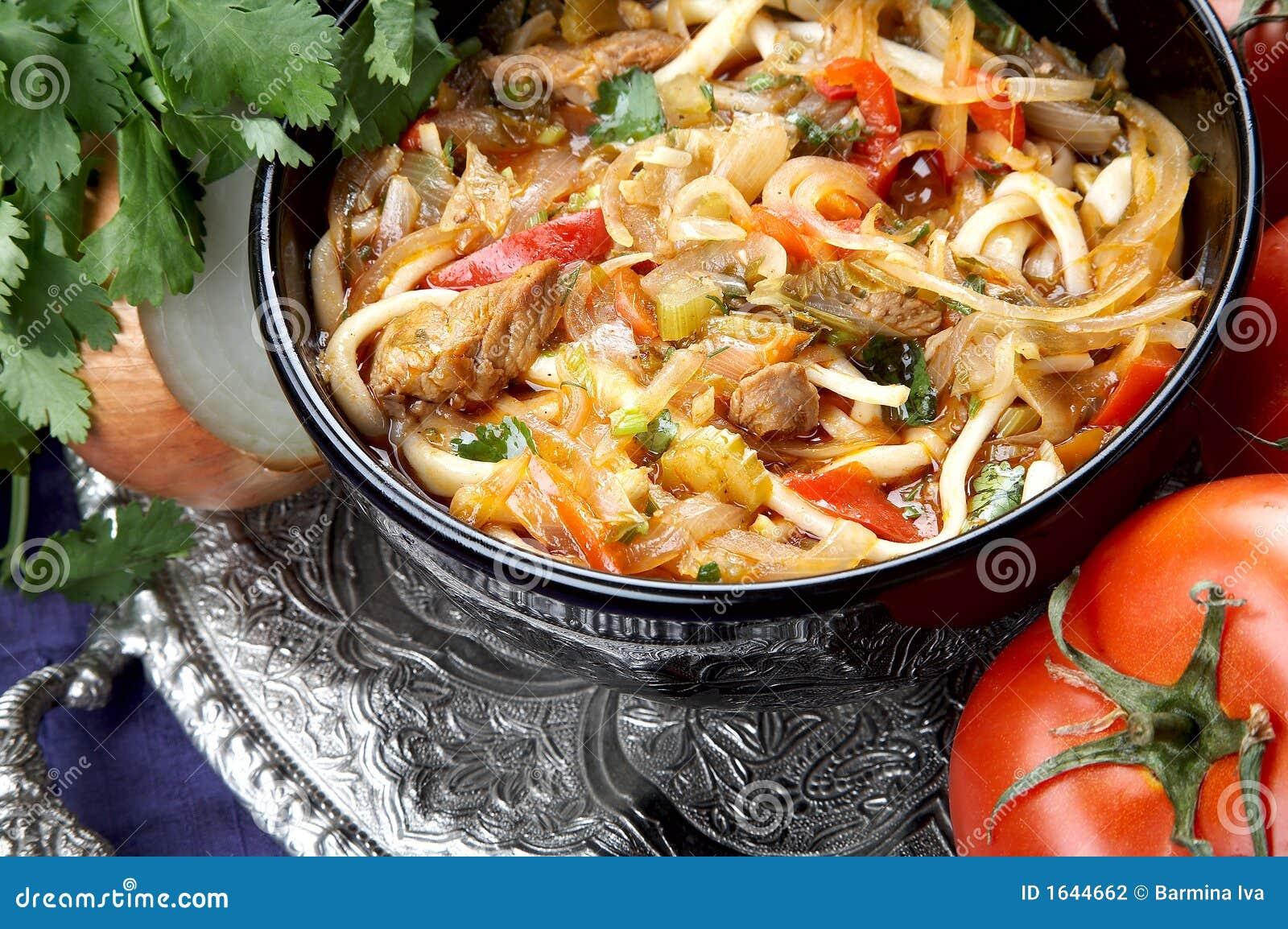 Лагман по узбекски рецепт в казане