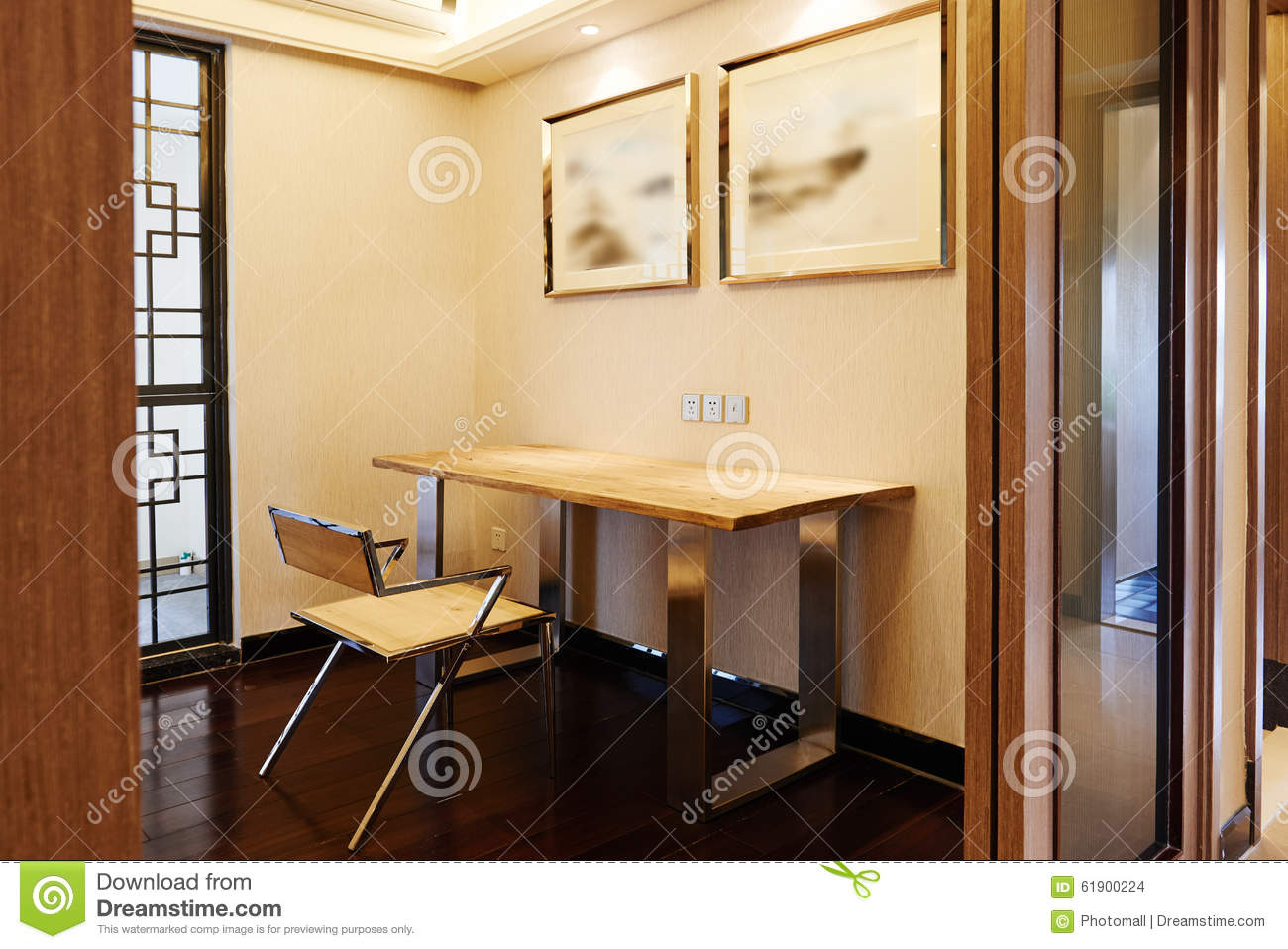 Oriental study room stock photo image 61900224 for Study interior styling