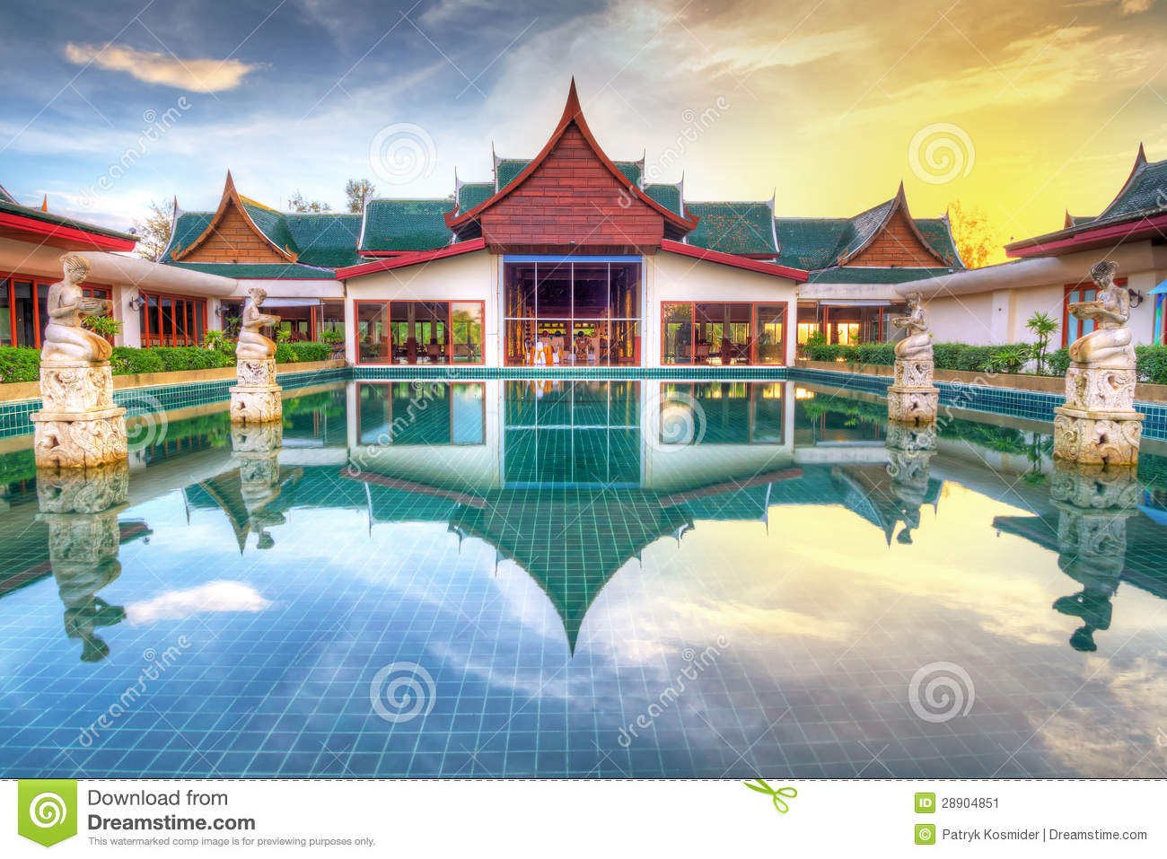 Oriental style architecture in thailand stock image for Architecture orientale