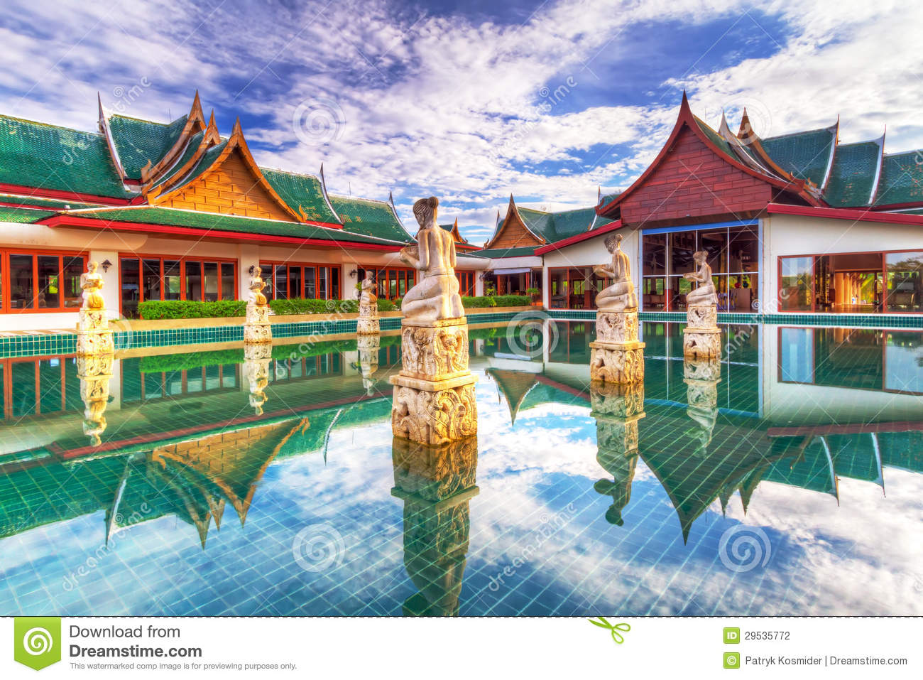 Oriental style architecture in thailand stock photo for Architecture orientale
