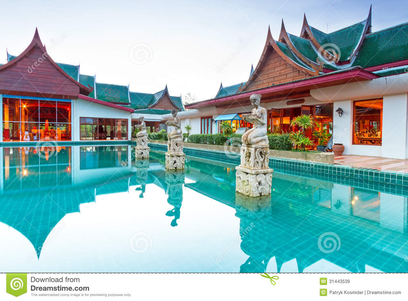 Oriental style architecture in thailand royalty free stock for Architecture orientale