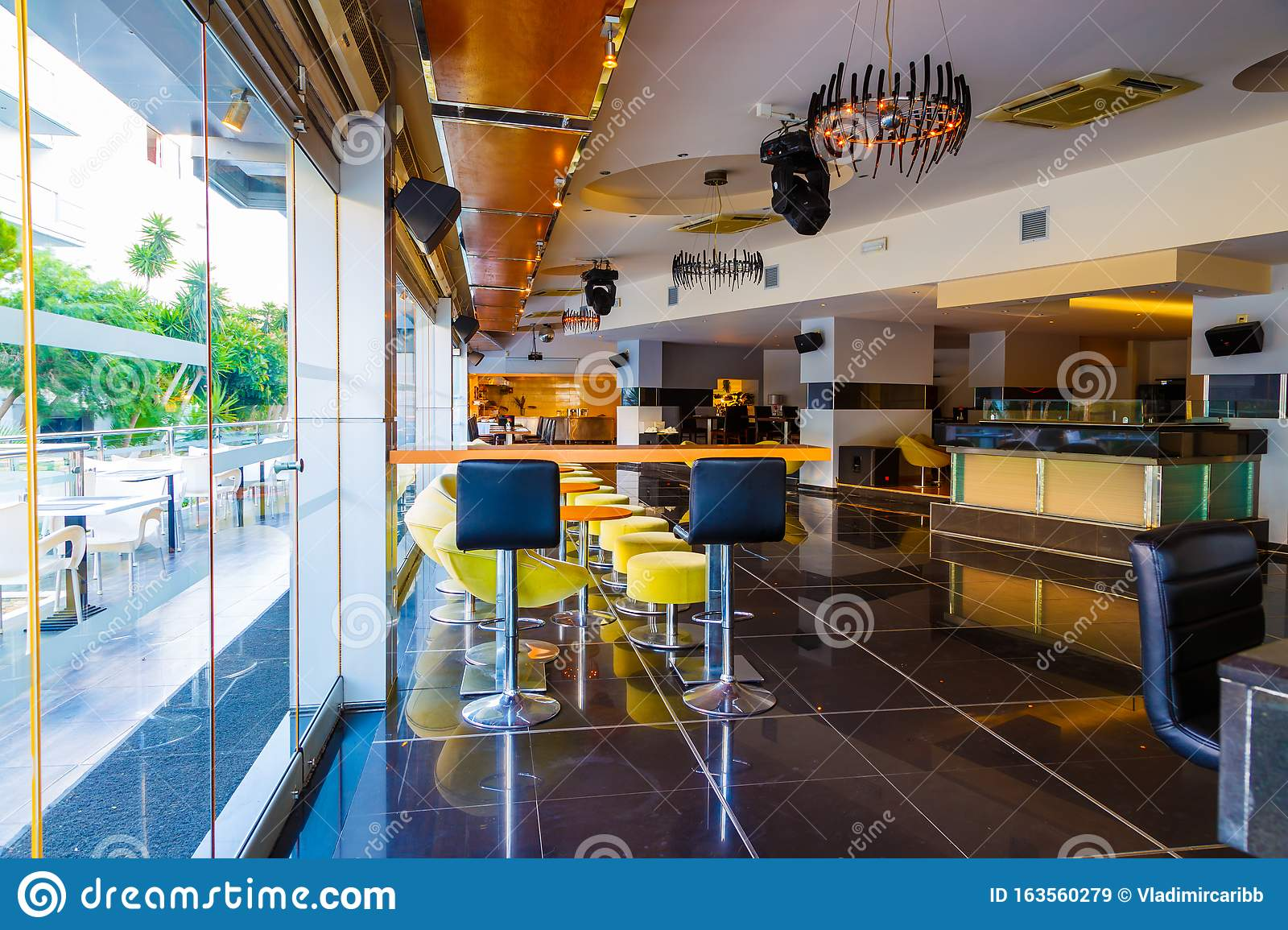 Oriental Style Interior Of The Japanese Restaurant With Nicely Served Table With Napkins Of The Luxury Five Stars Resort Hotel Stock Image Image Of Inside Celebrate 163560279