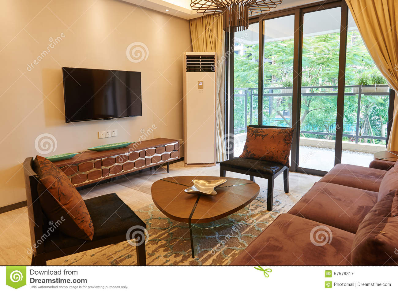 Oriental style living room stock photo image 57579317 - Oriental style living room ...