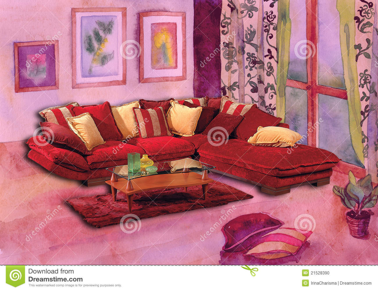 oriental style sofa stock photo image 21528390. Black Bedroom Furniture Sets. Home Design Ideas