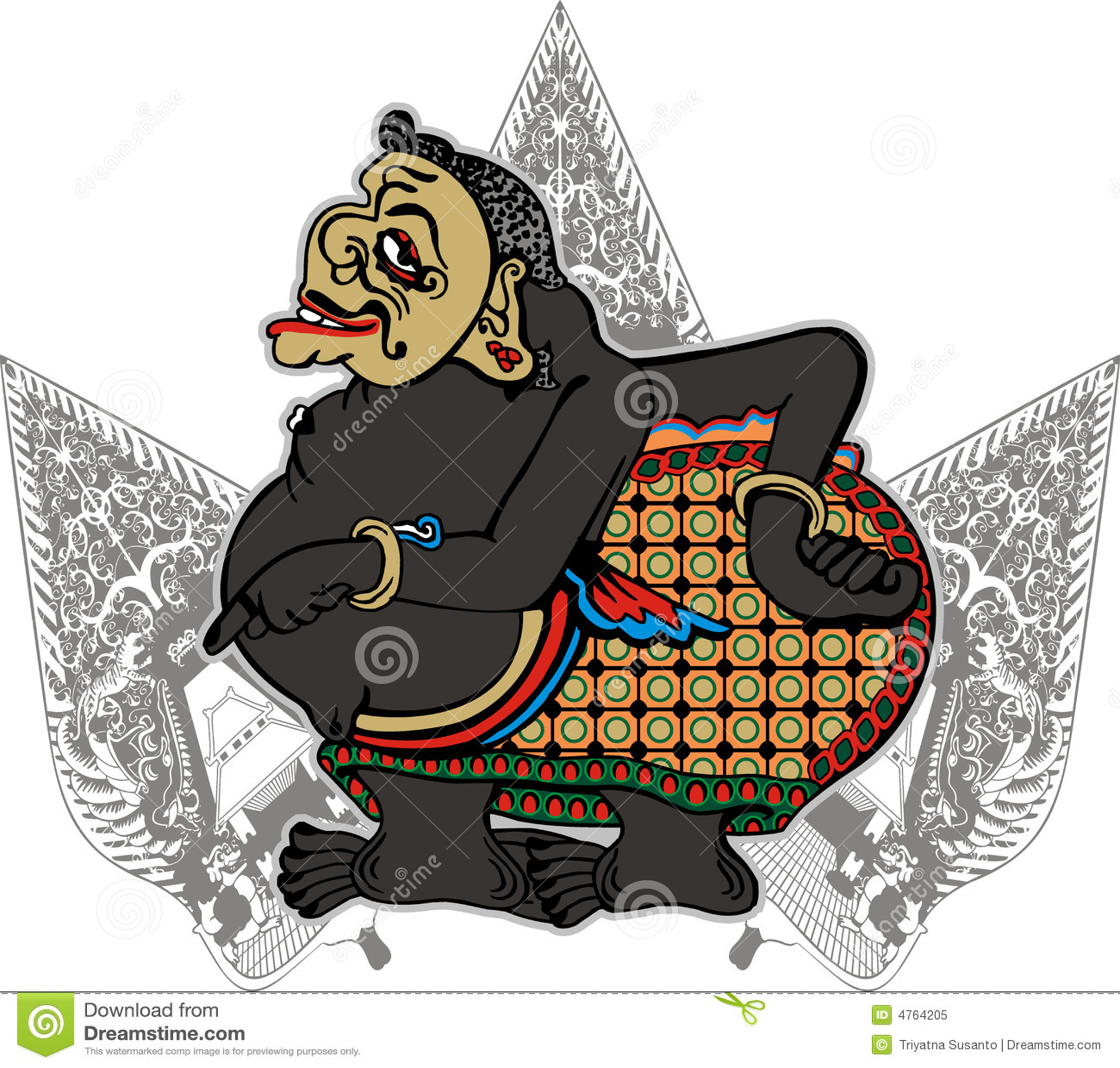 Oriental Symbol Design Royalty Free Stock Photo