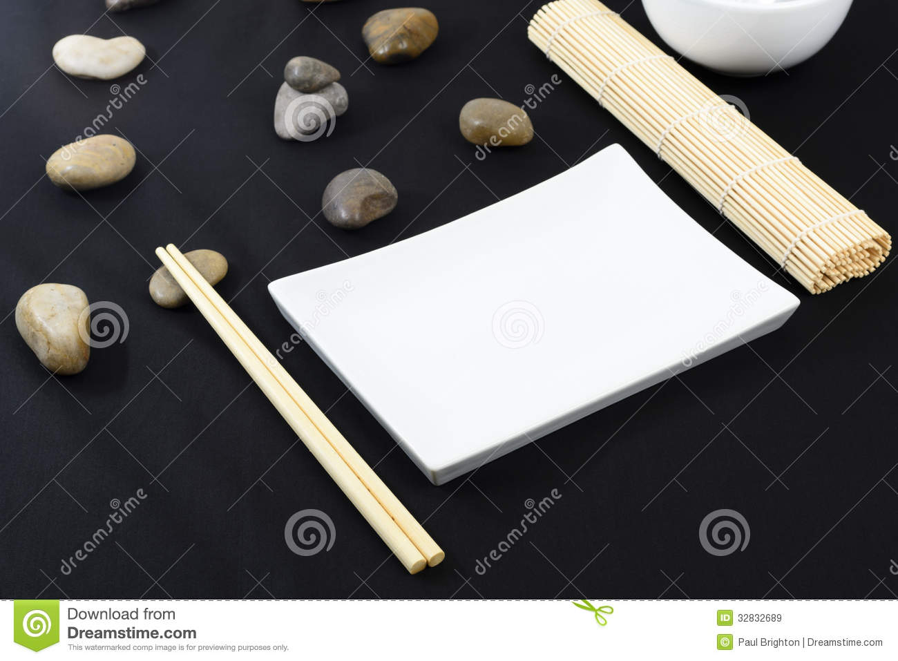 Pebbles On A Black Table Royalty Free Stock Photo