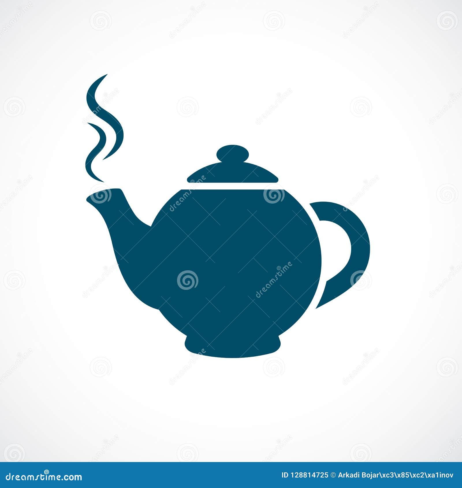 Oriental Tea Pot Vector Icon Stock Vector - Illustration ...