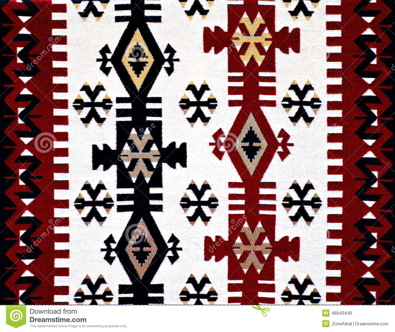Oriental Turkish Carpet Pattern Stock Photo Image 46645440