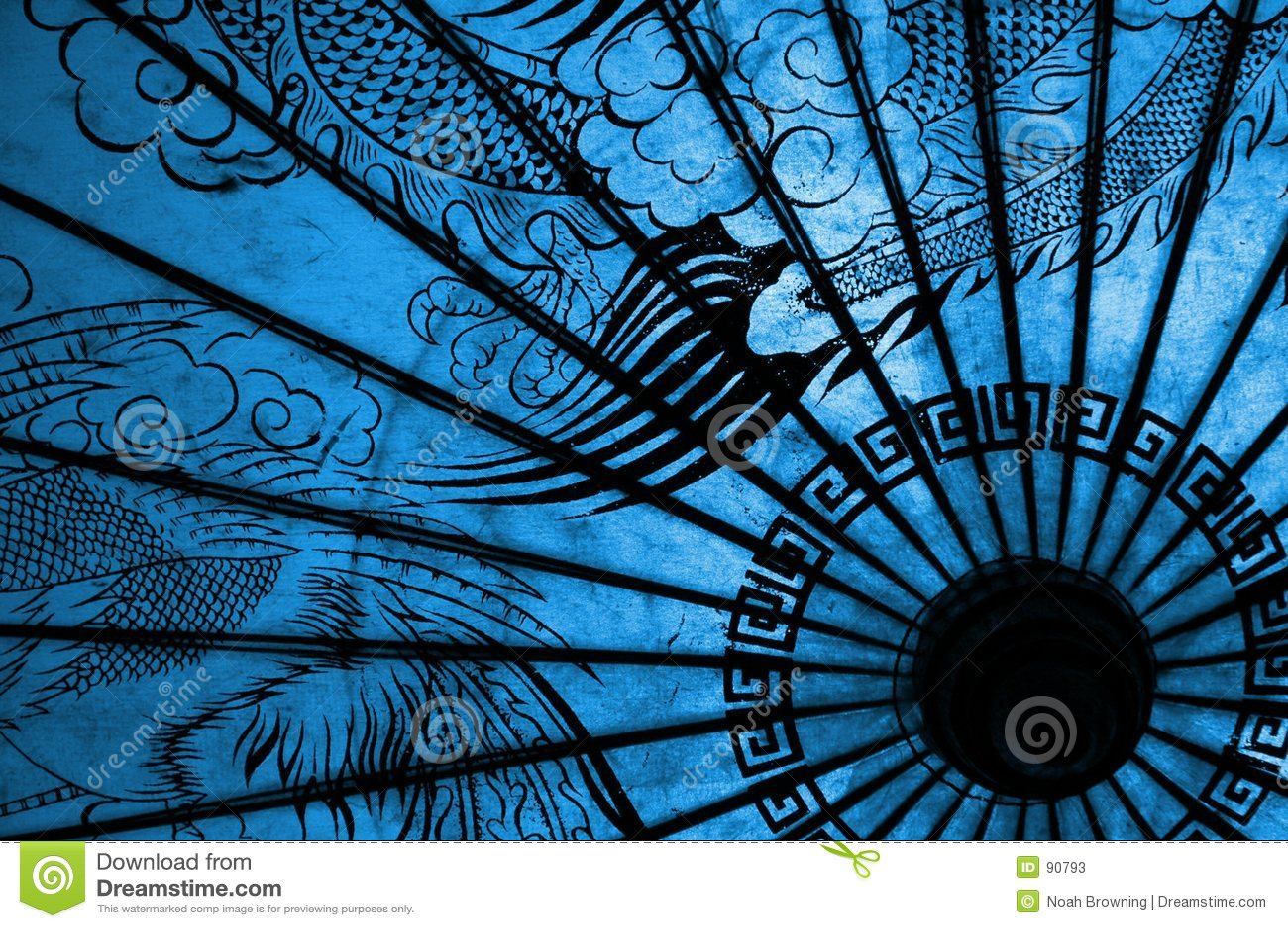 oriental umbrella stock image image of life asian blue 90793