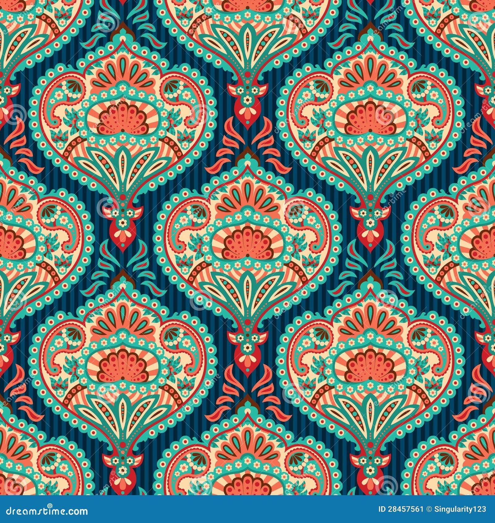 Oriental Wallpaper Pattern Stock Image - Image: 28457561