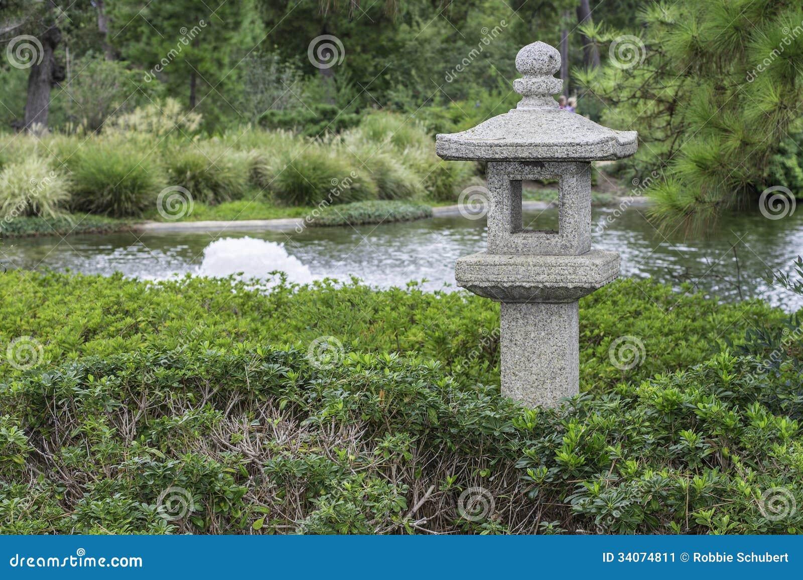 orientalische garten pagoden statue stockbild bild 34074811. Black Bedroom Furniture Sets. Home Design Ideas