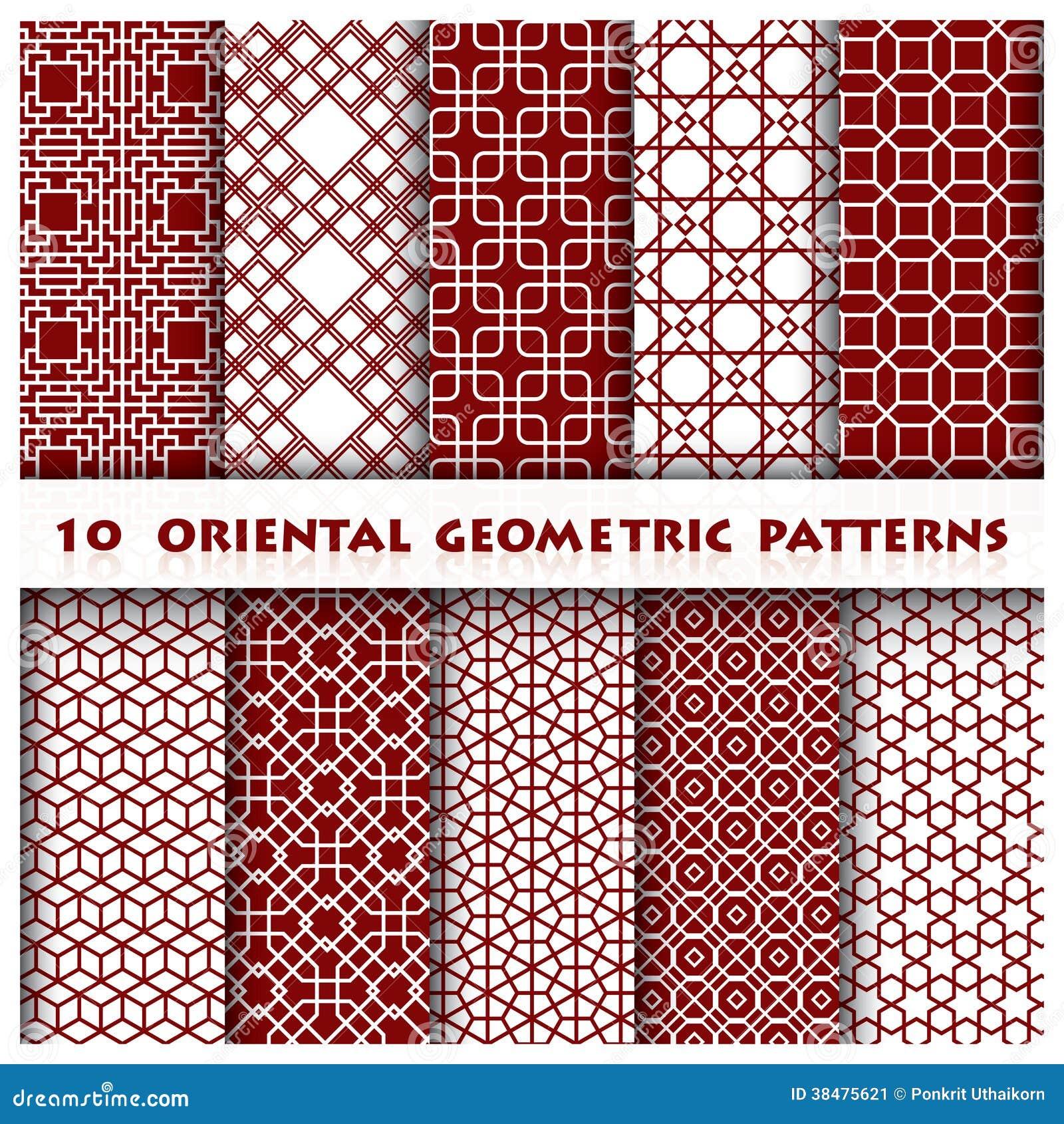 orientalische geometrische muster art stockbild bild 38475621. Black Bedroom Furniture Sets. Home Design Ideas