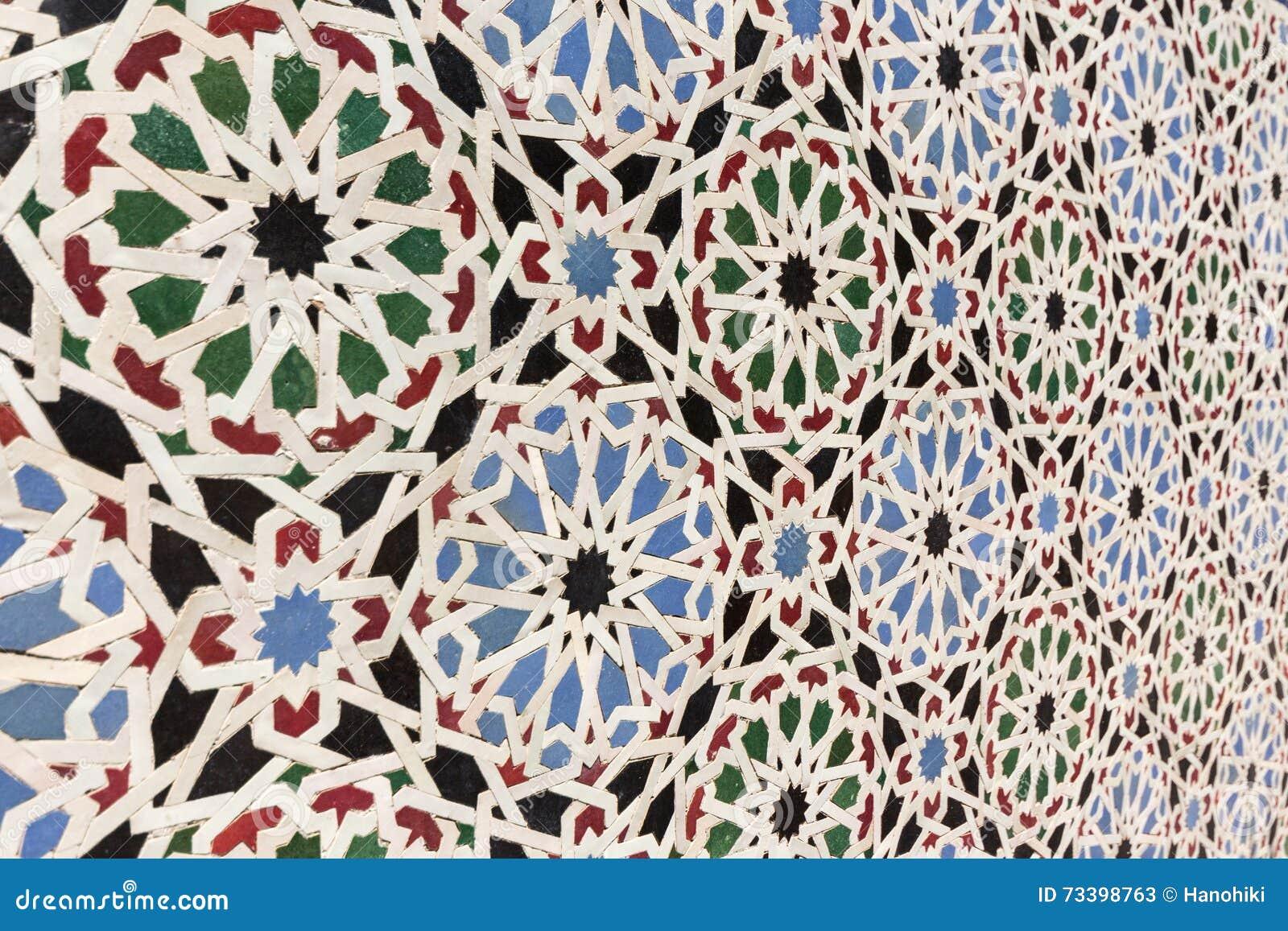 Orientalische Mosaikdekoration MarokkoFliesen Stockbild Bild - Mosaik fliesen marokko