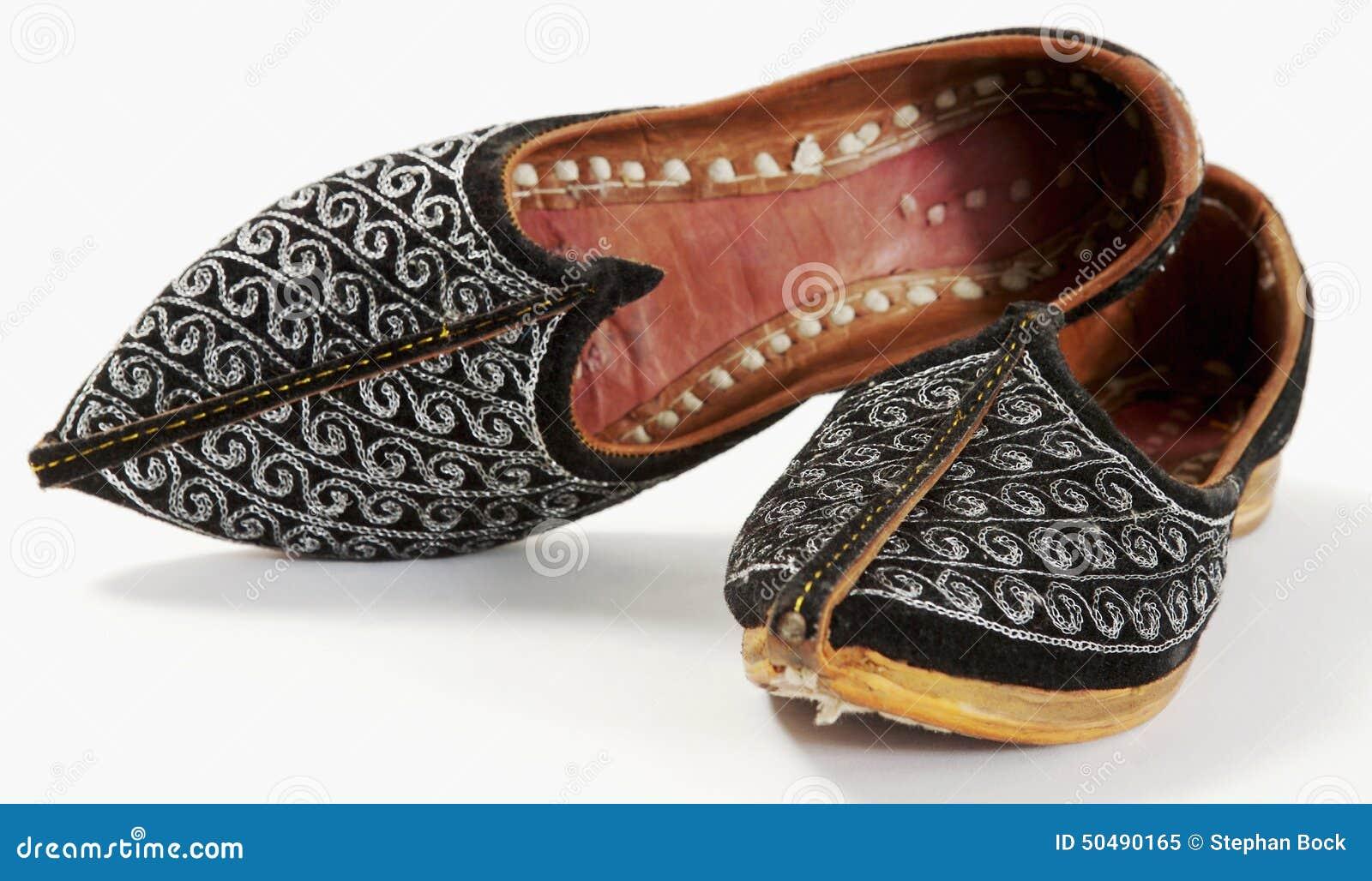 Orientalische Schuhe, Nahaufnahme Stockbild Bild von