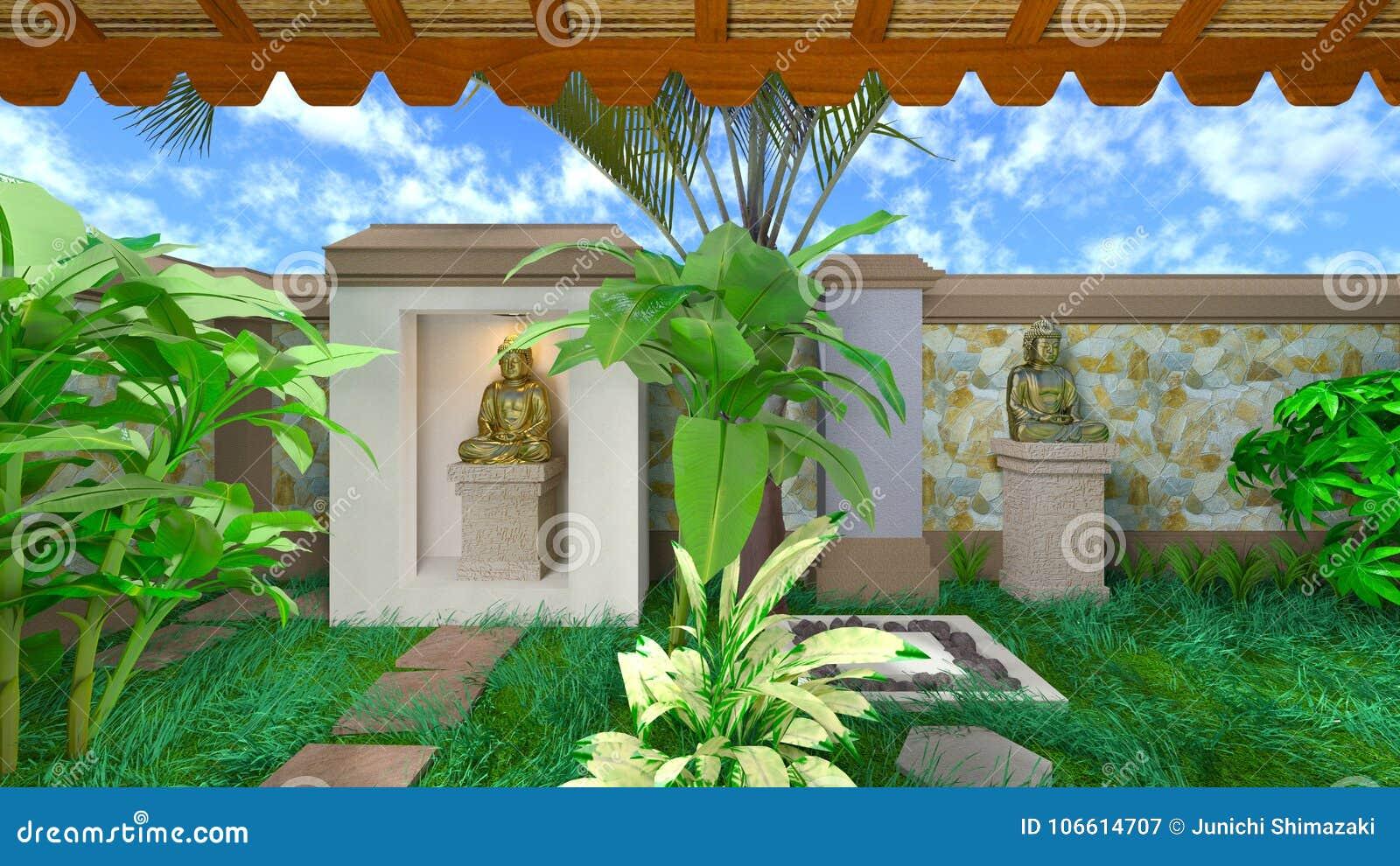 Orientalisches Badezimmer stock abbildung. Illustration von glaube ...