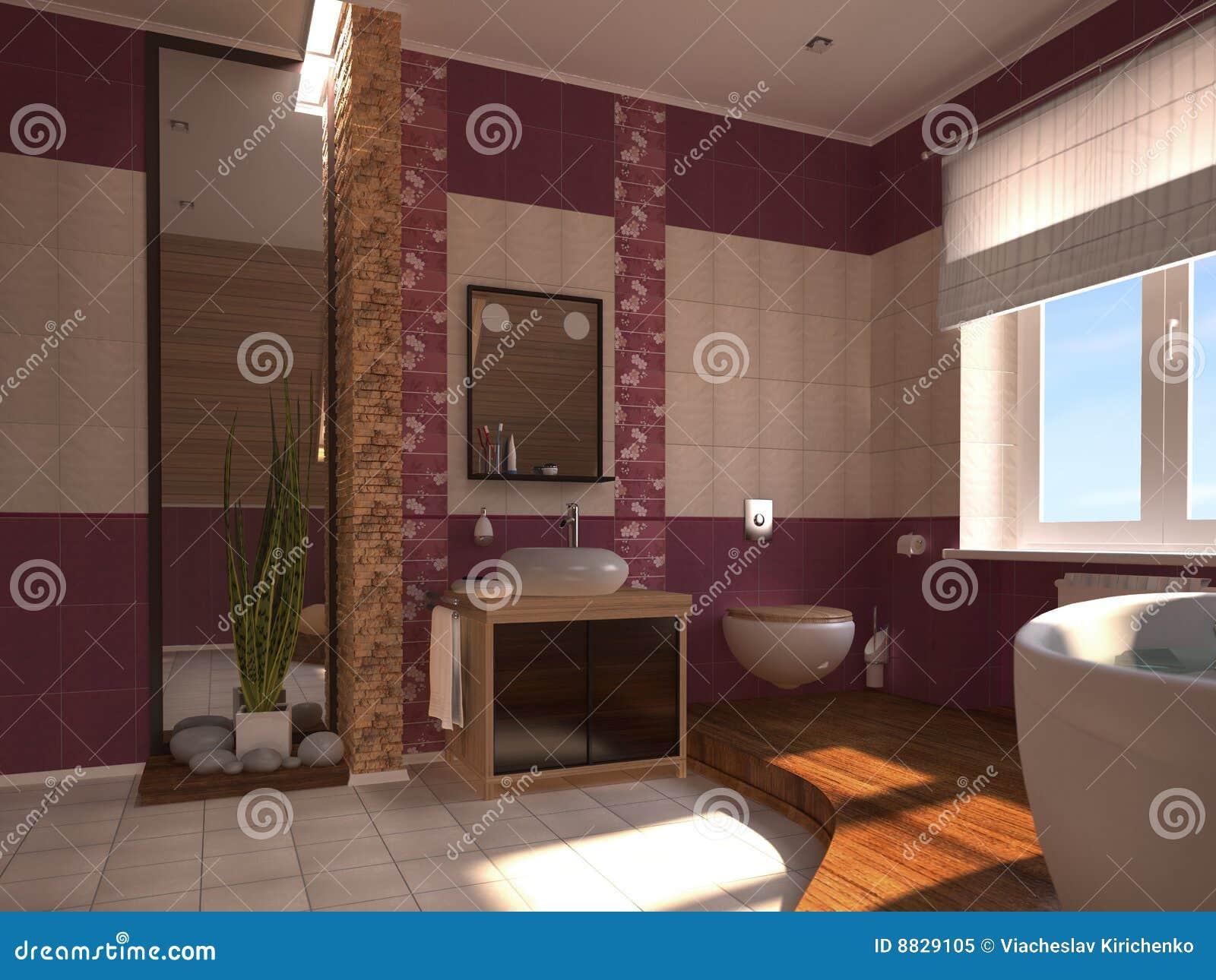 Orientalisches Badezimmer Stock Abbildung Illustration Von
