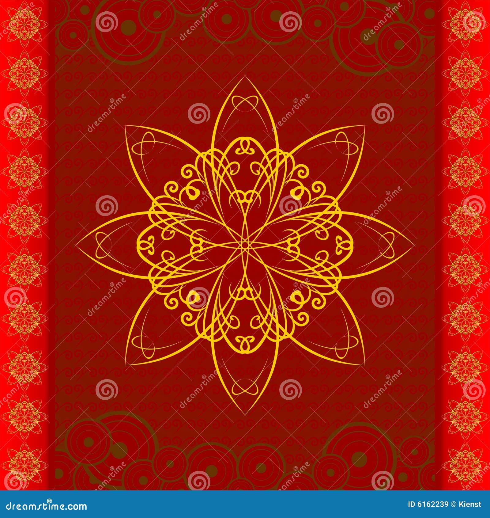 orientalisches blumenmuster lizenzfreie stockbilder bild 6162239. Black Bedroom Furniture Sets. Home Design Ideas