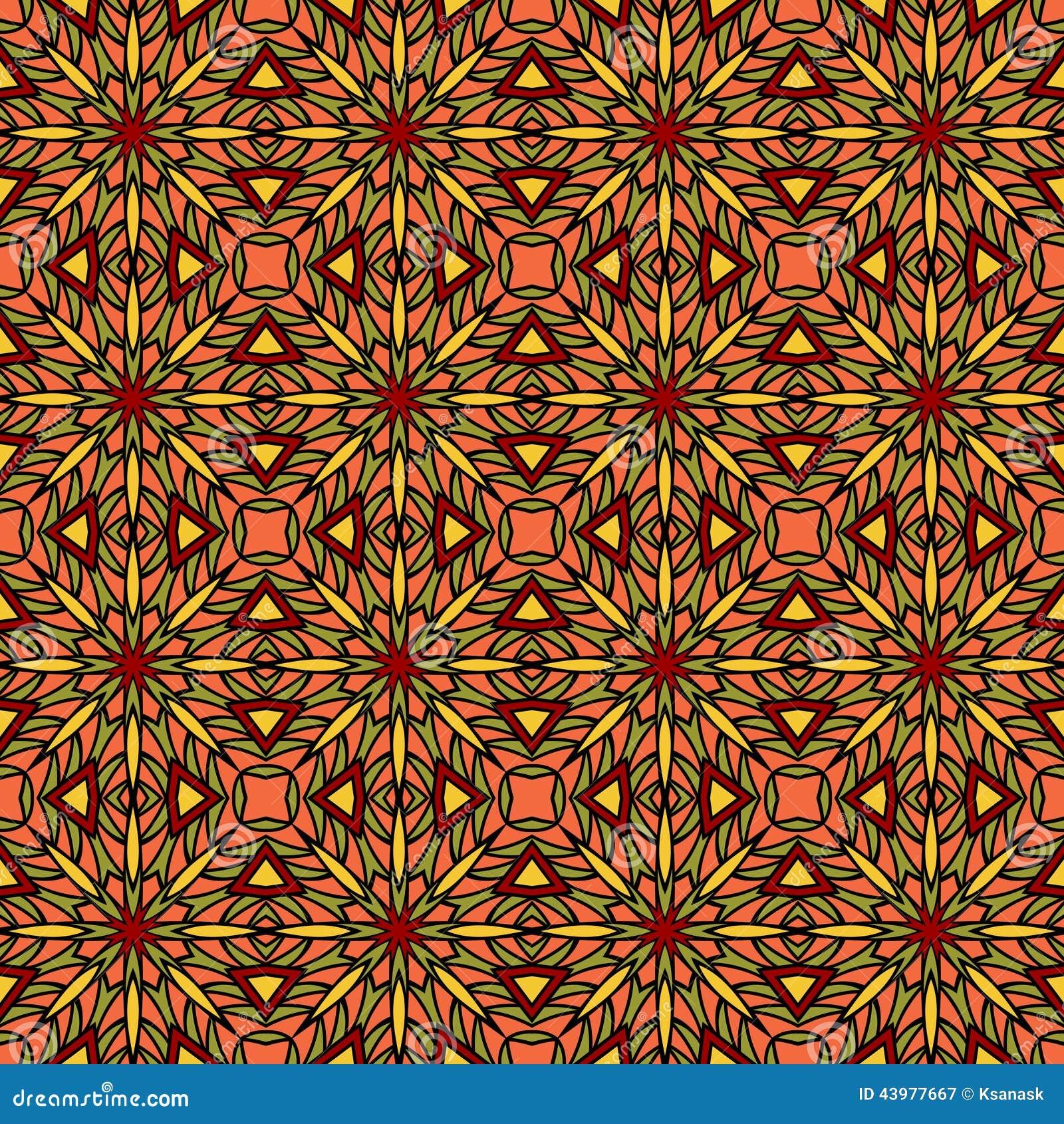 orientalisches fliesen muster vektor abbildung illustration von kultur farben 43977667. Black Bedroom Furniture Sets. Home Design Ideas