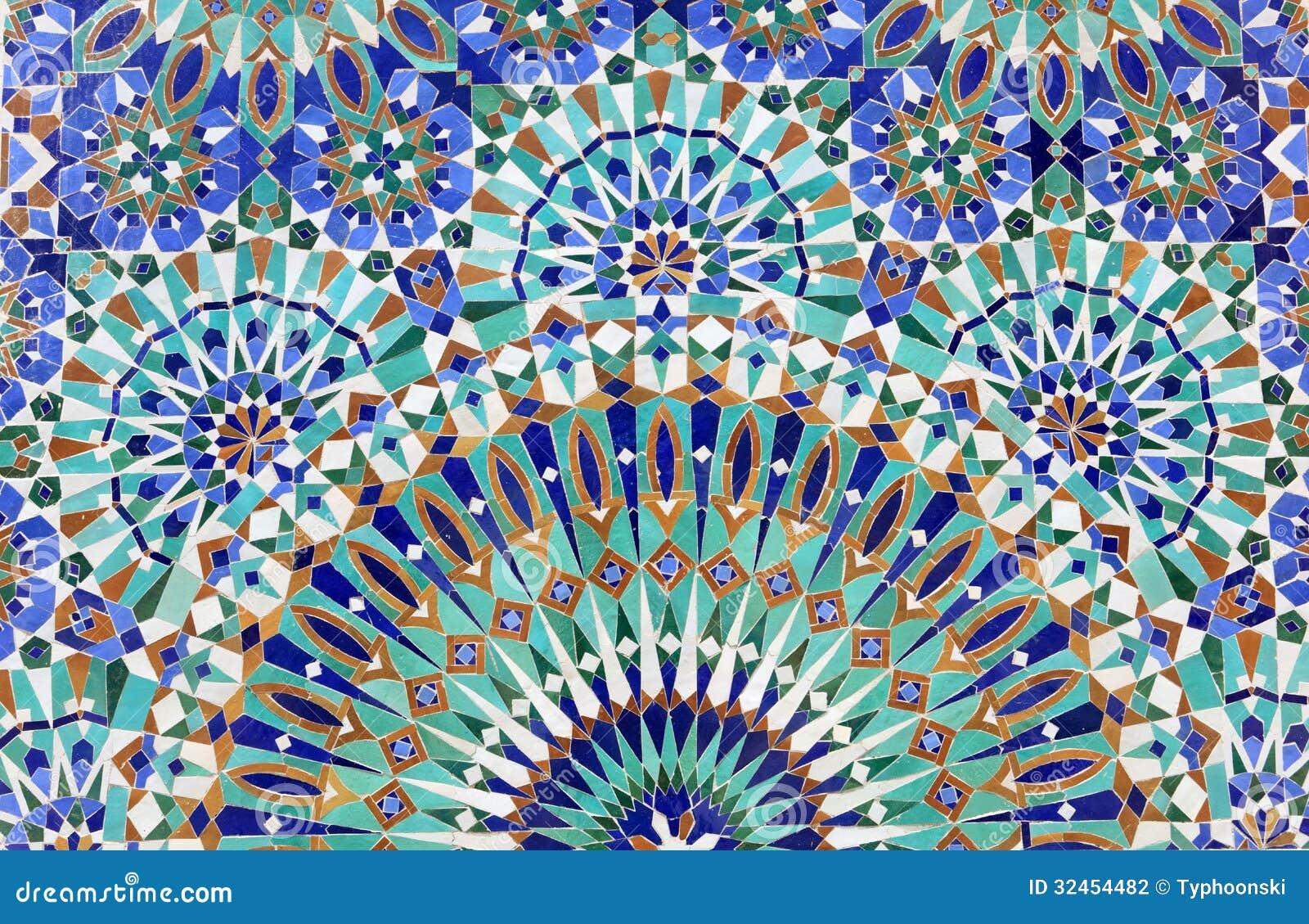 Mosaik Fliesen Aus Marokko: Blaue mosaik fliesen marokko papiere b ...