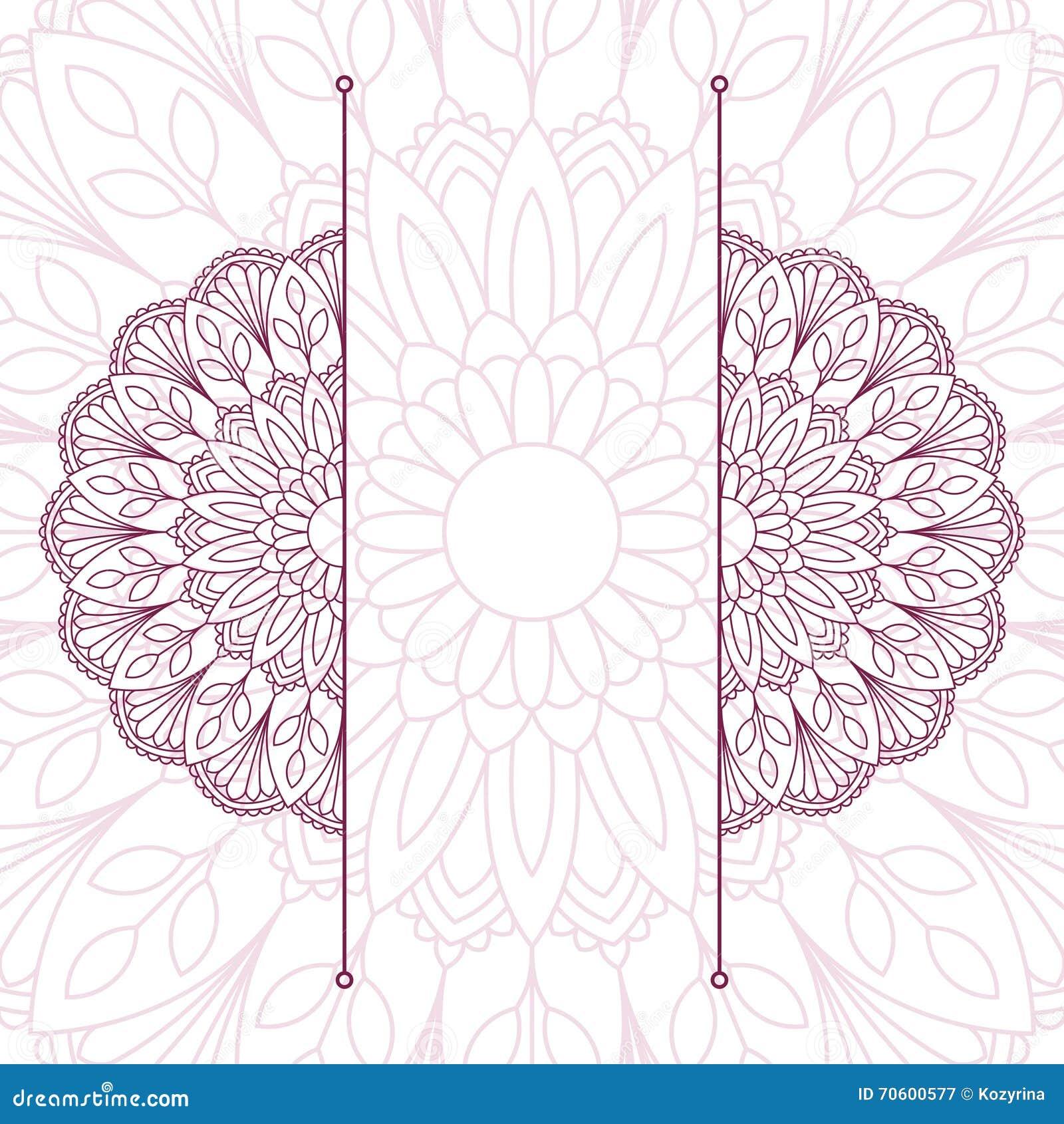 orientalisches muster mit mandala vektor abbildung bild 70600577. Black Bedroom Furniture Sets. Home Design Ideas