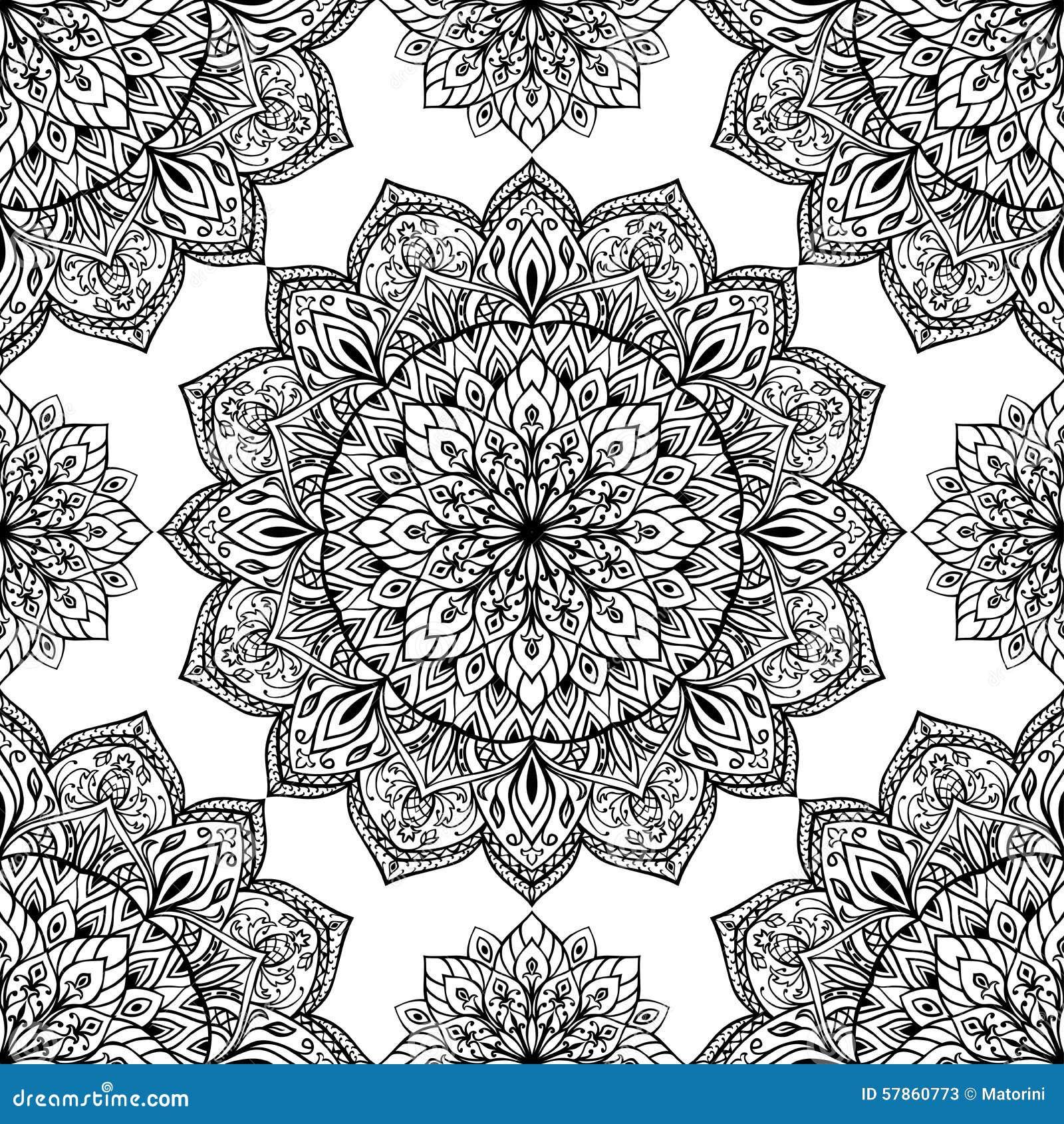 orientalisches muster von mandalen vektor abbildung bild. Black Bedroom Furniture Sets. Home Design Ideas